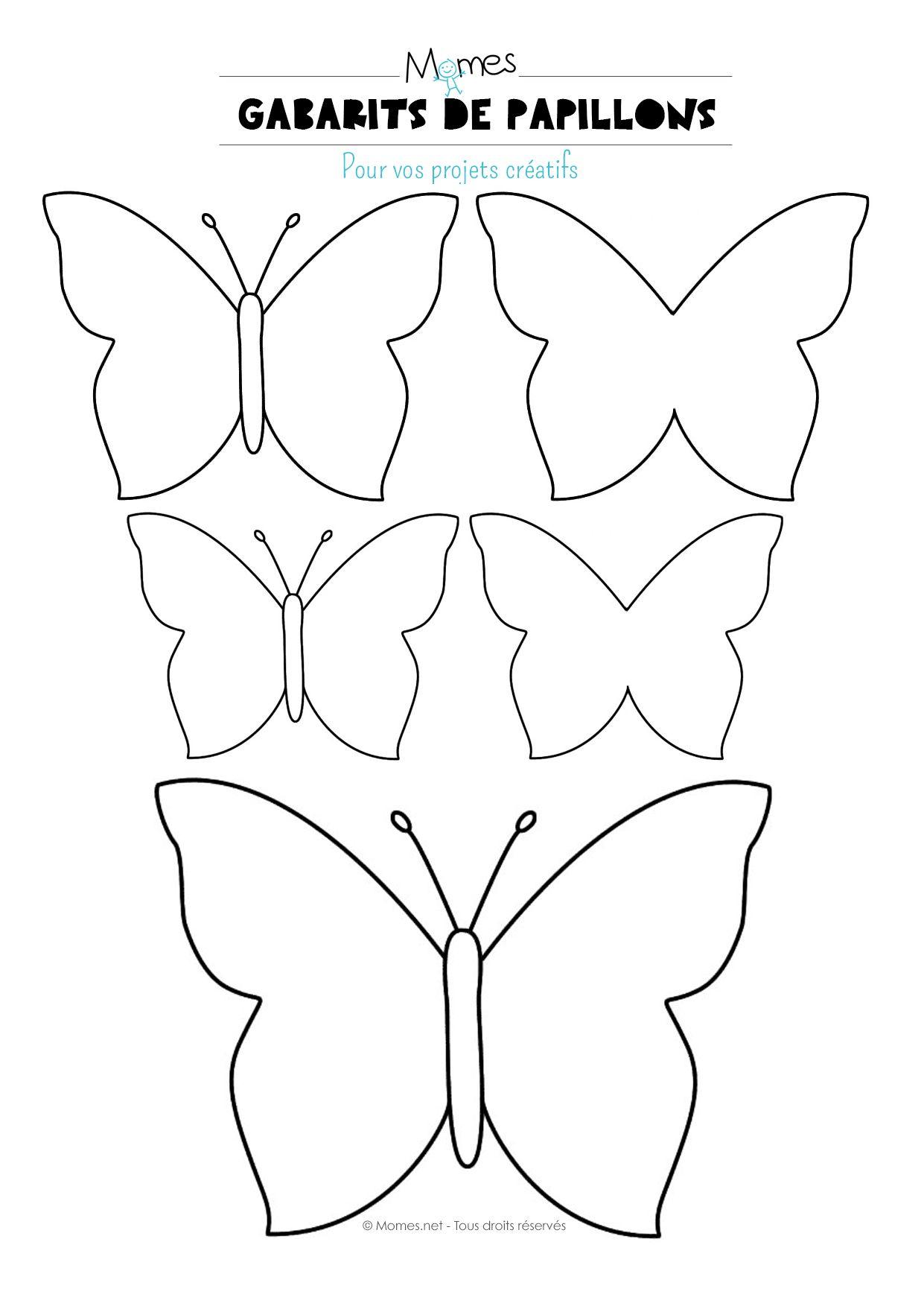 Papillon À Imprimer | Papillon A Imprimer, Gabarit Papillon concernant Modèle Oiseau À Découper