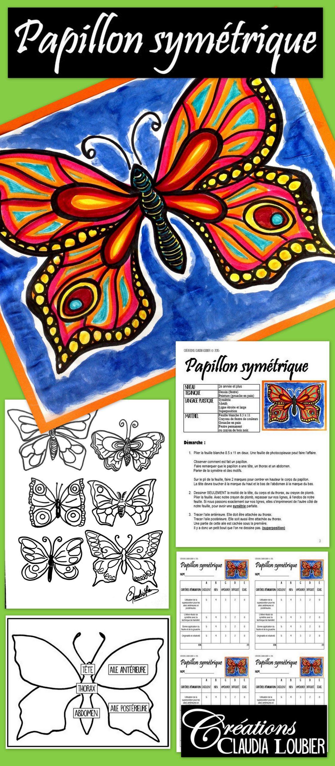 Papillon Symétrique, Projet D'arts Plastiques, Été Et pour Symétrie En Ligne
