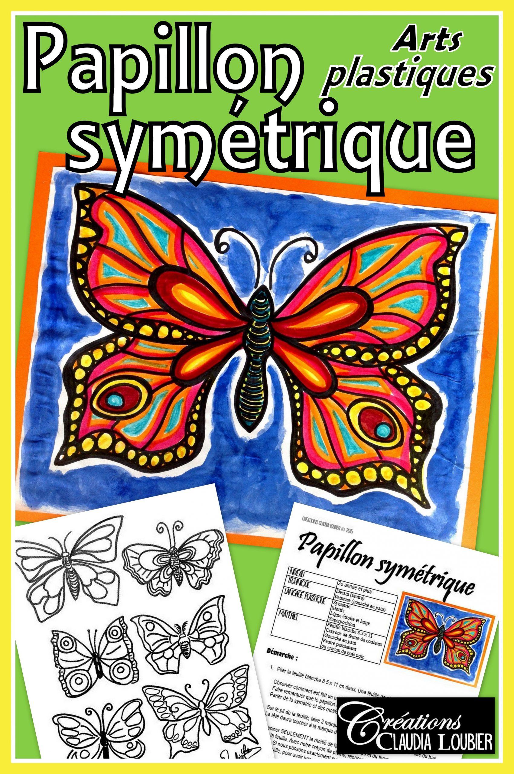 Papillon Symétrique, Projet D'arts Plastiques, Été Et serapportantà Jeux Papillon Gratuits Ligne