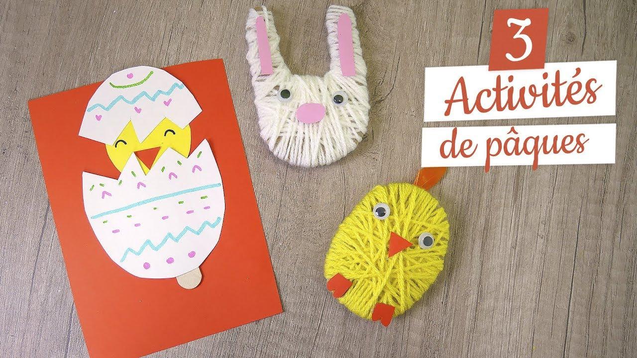 Pâques : 3 Activités Manuelles Diy tout Activité Manuelle Pour Petit