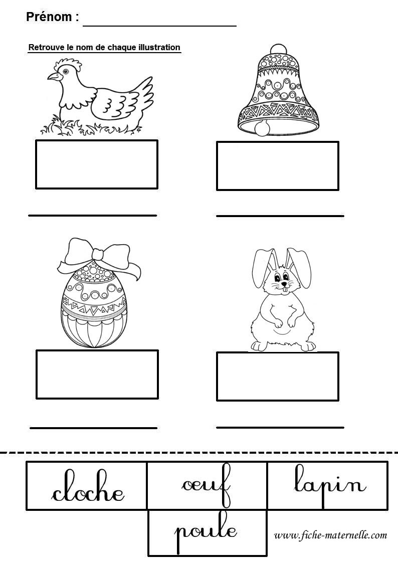 Pâques En Maternelle : Lecture Pour Grande Section dedans Fiche Maternelle Grande Section