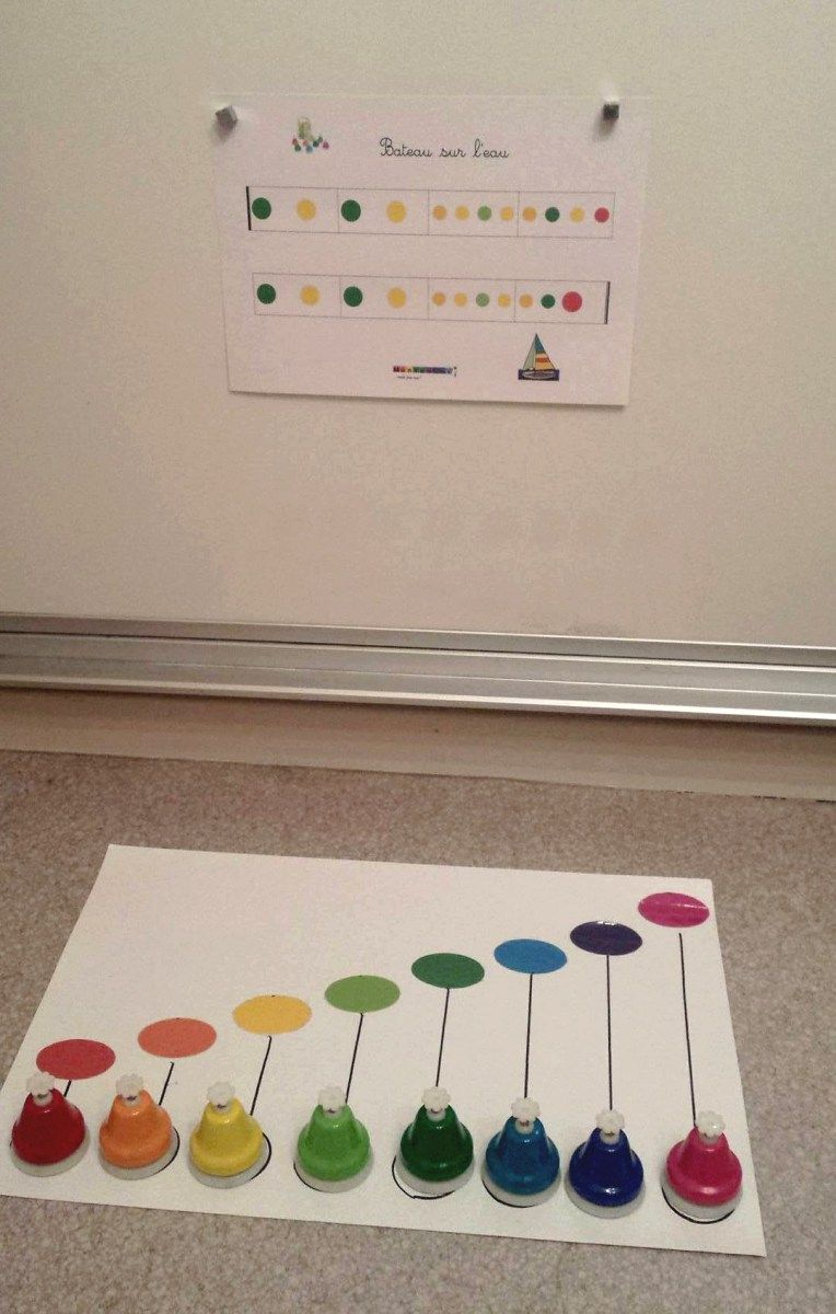 Partitions Pour Clochettes Musicales Colorées | Musique intérieur Activité Musicale Maternelle