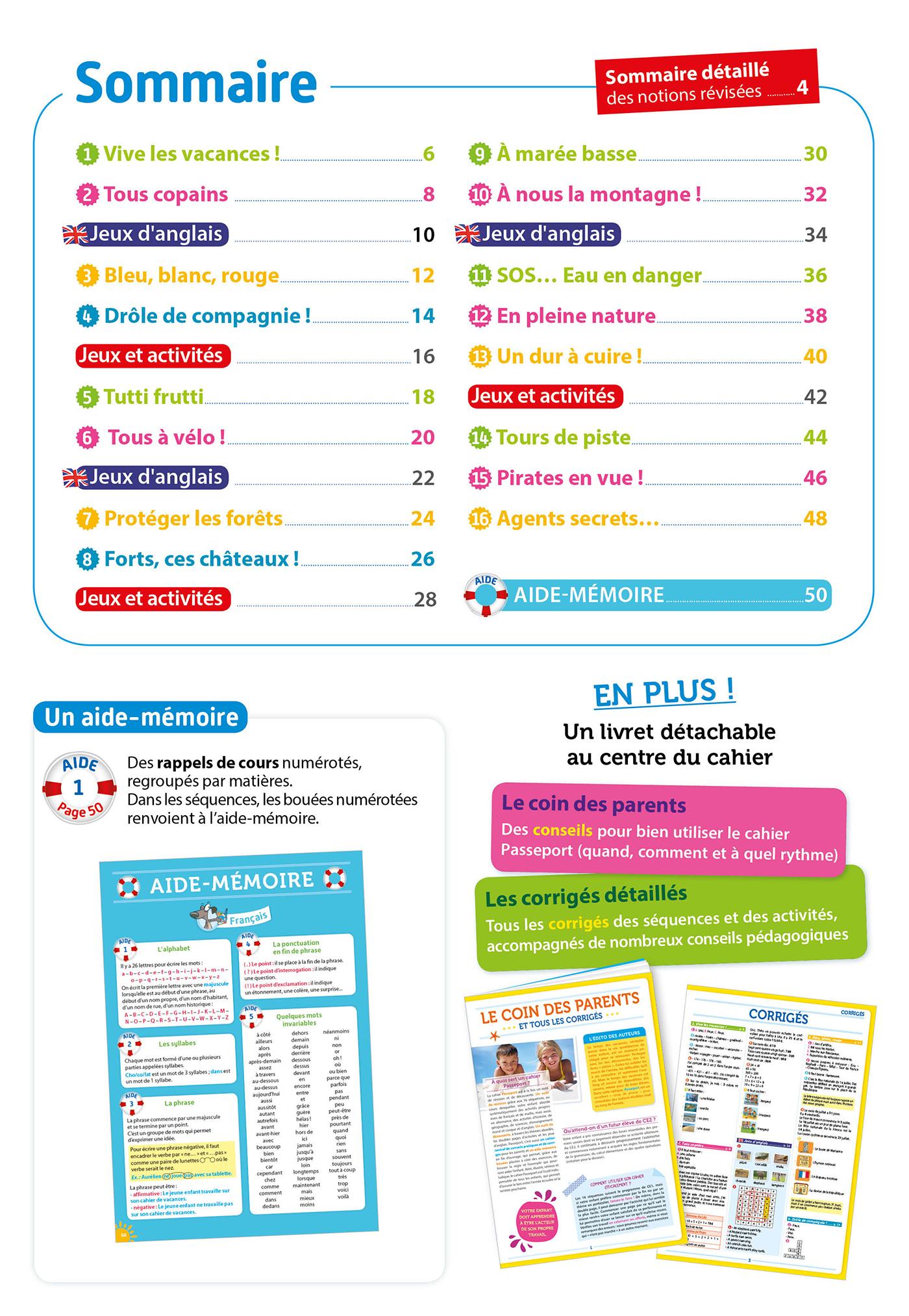 Passeport Cahier De Vacances 2019 - Toutes Les Matières Du à Cahier De Vacances À Télécharger Gratuitement