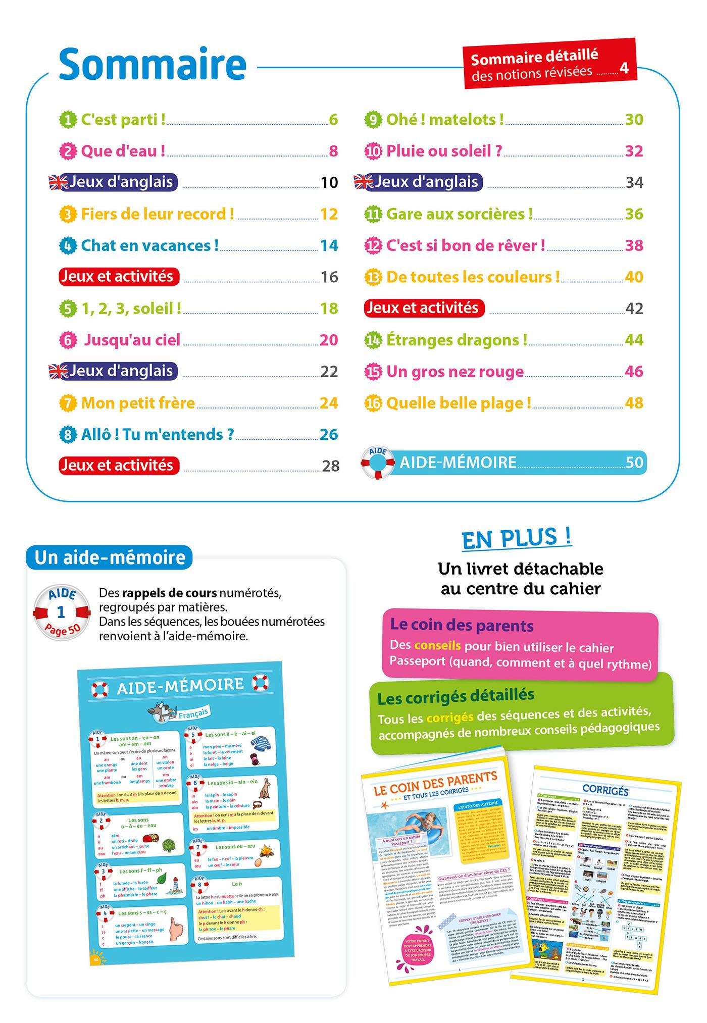 Passeport Cahier De Vacances - Toutes Les Matières Du Cp Au Ce1 - 6/7 Ans destiné Jeux De Ce1 Gratuit En Ligne