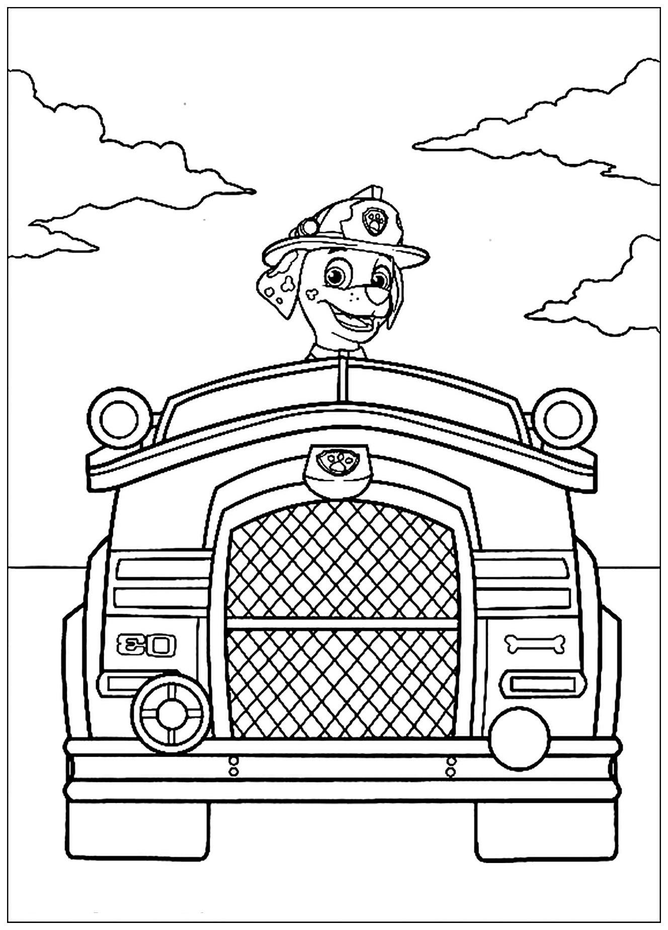 Pat Patrouille : Véhicule - Coloriage Pat Patrouille pour Coloriage Vehicule