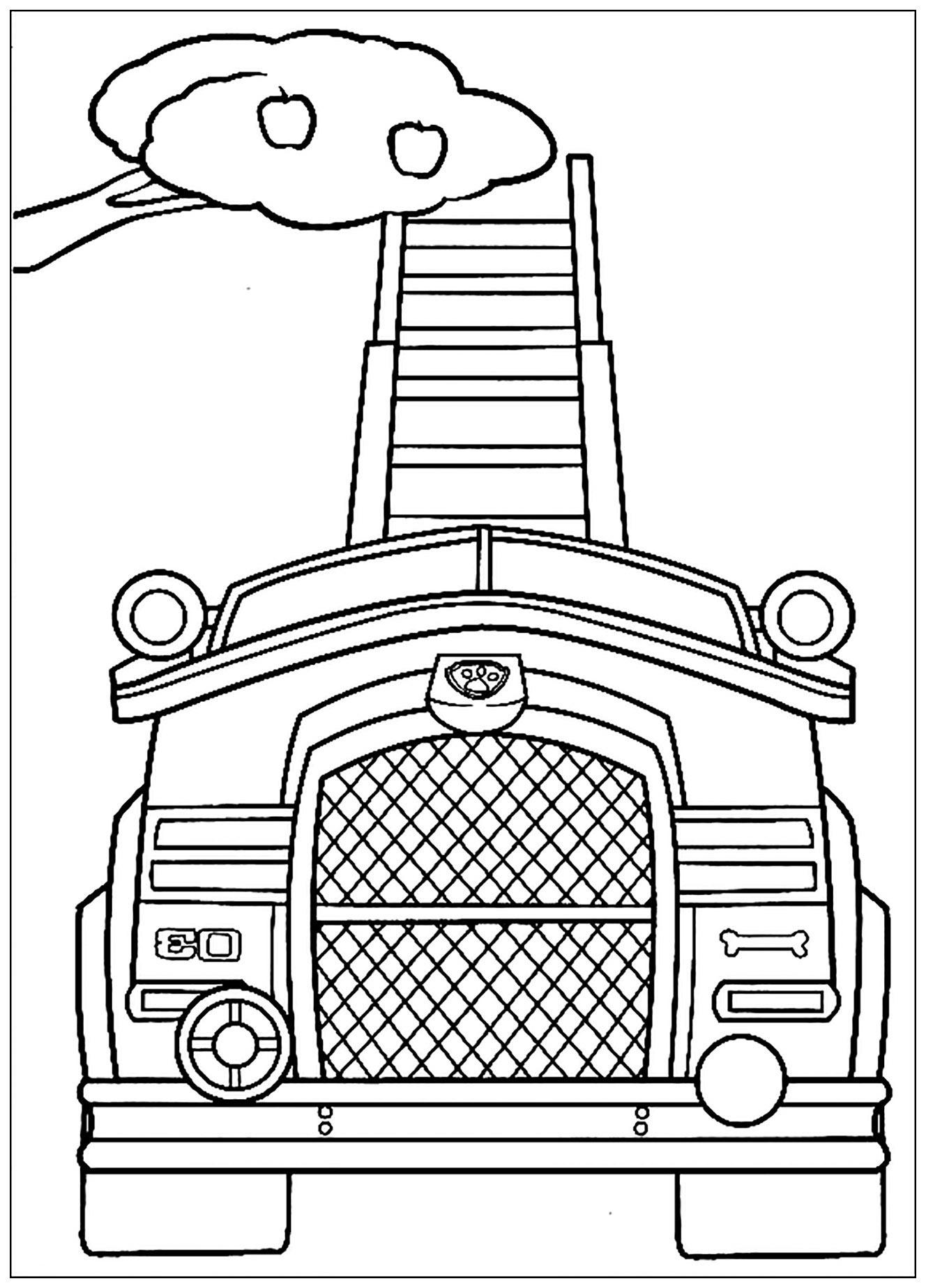 Pat Patrouille : Véhicule De Récolte - Coloriage Pat à Coloriage Vehicule
