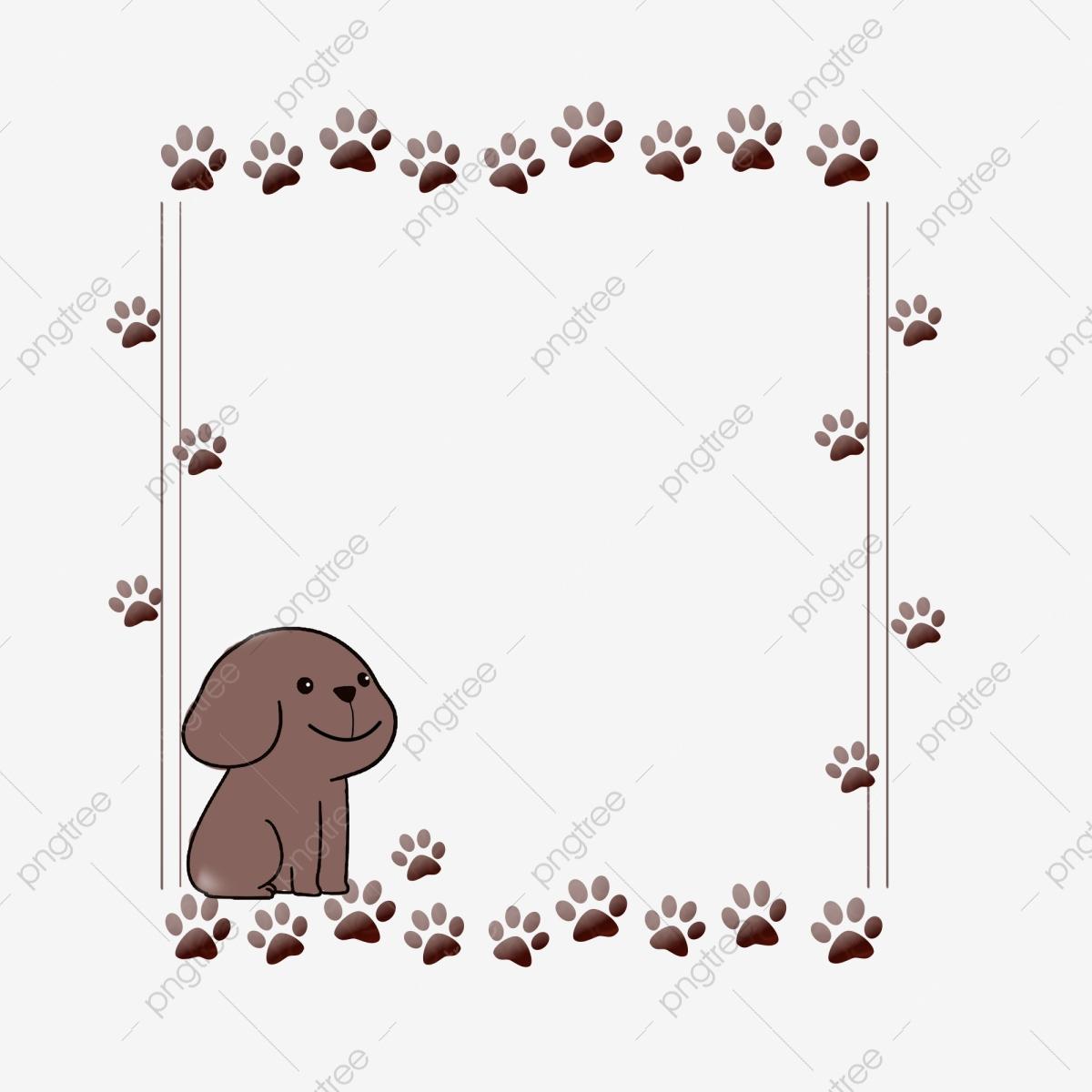 Patte De Chien Mignon Imprimer Frontière Mignon Chien concernant Silhouette D Animaux À Imprimer