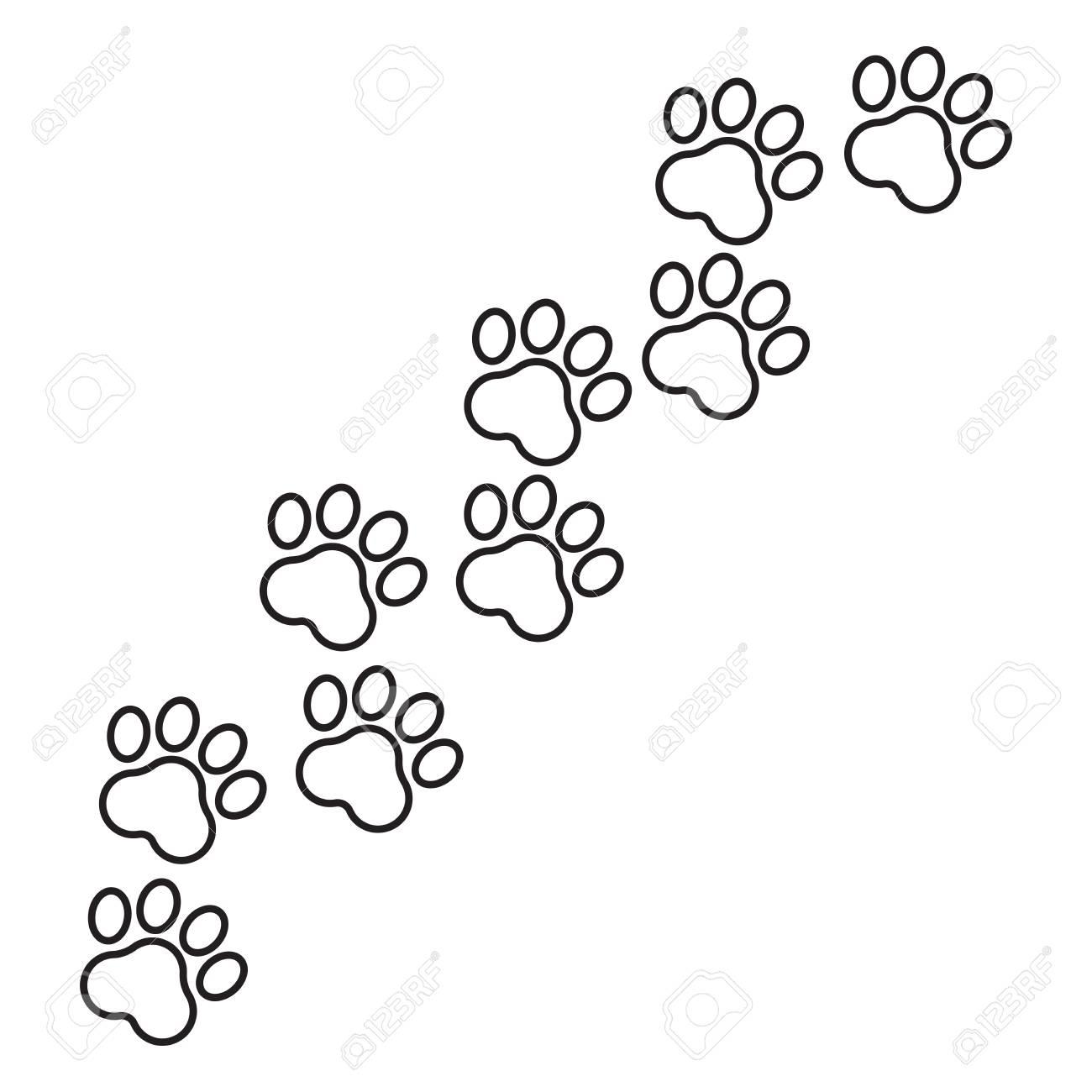 Paw Imprimer L'icône Du Vecteur En Ligne. Illustration De Pawprint Pour  Chien Ou Chat. Silhouette Des Animaux. tout Silhouette D Animaux À Imprimer