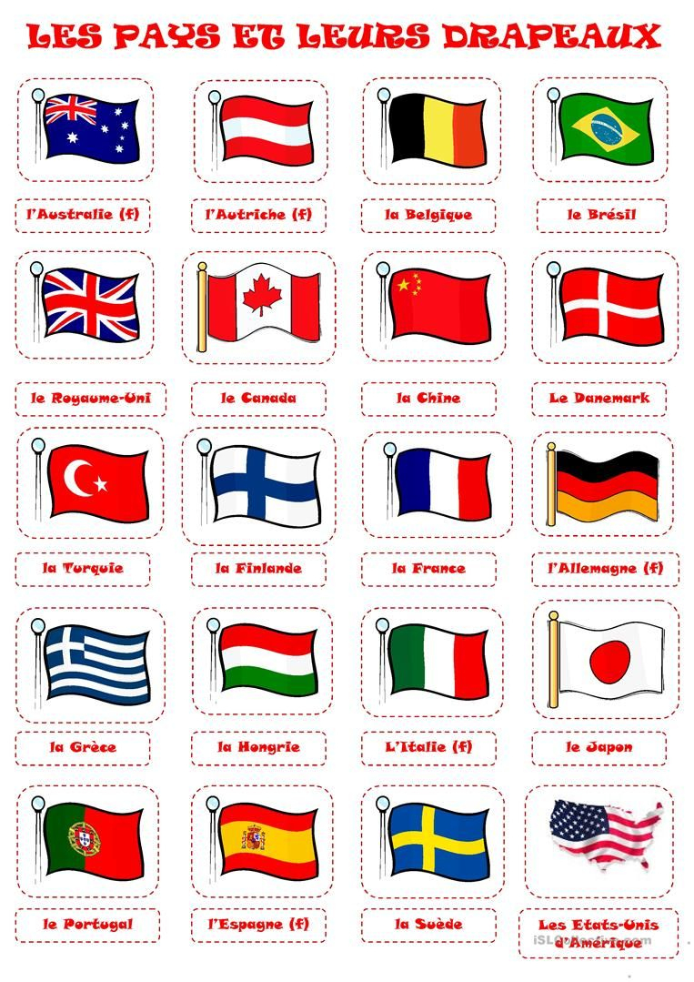 Pays Et Drapeaux 1 | Drapeaux Du Monde, Drapeau Pays Et à Liste Des Pays De L Union Européenne Et Leurs Capitales