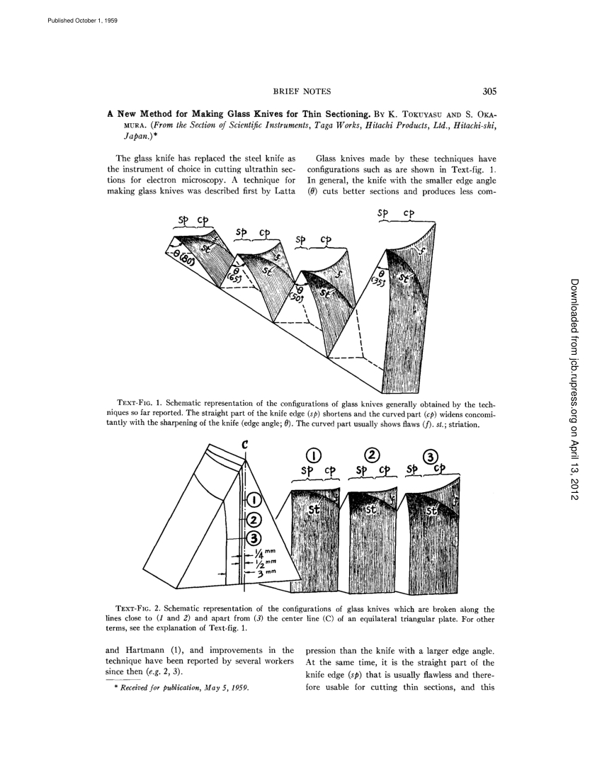 Pdf) A New Method For Making Glass Knives For Thin Sectioning encequiconcerne Découpage Cp