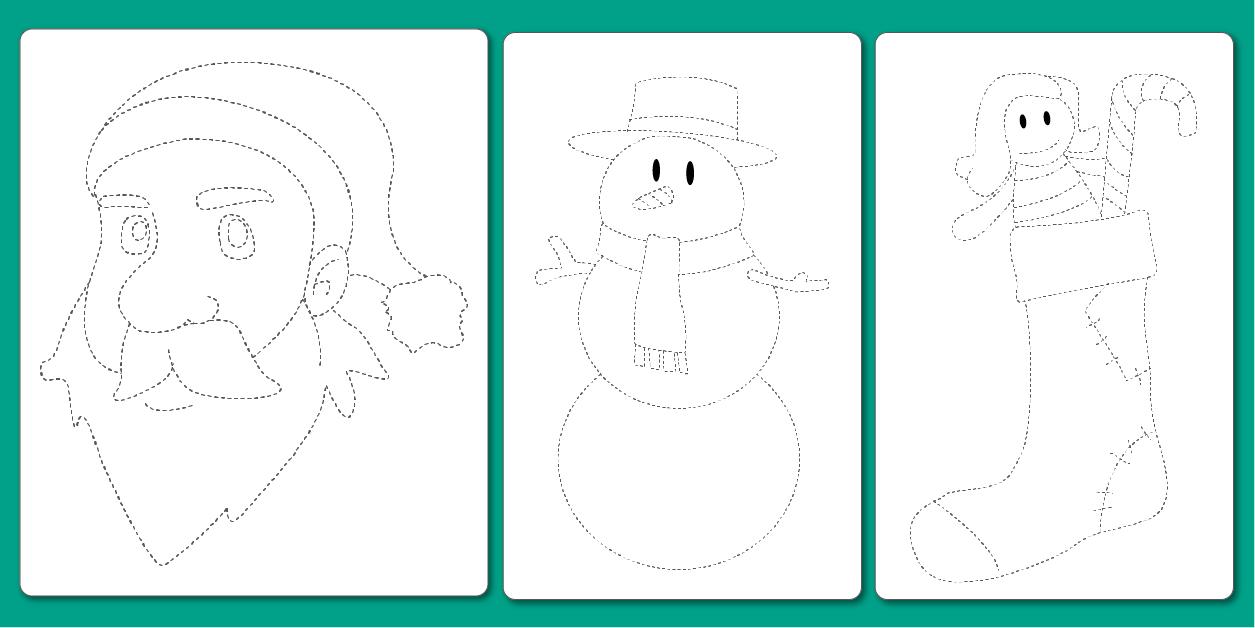 Pdf Dessin À Imprimer En Noël Graphisme Maternelle Et Cp tout Noel Maternelle Grande Section