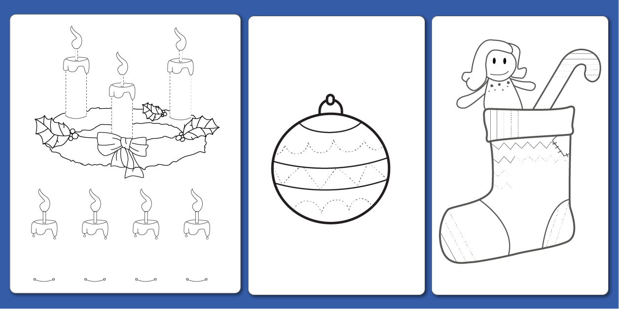 Pdf Fiche Graphisme Décoration De Noël En Maternelle Et Cp dedans Coloriage Graphique