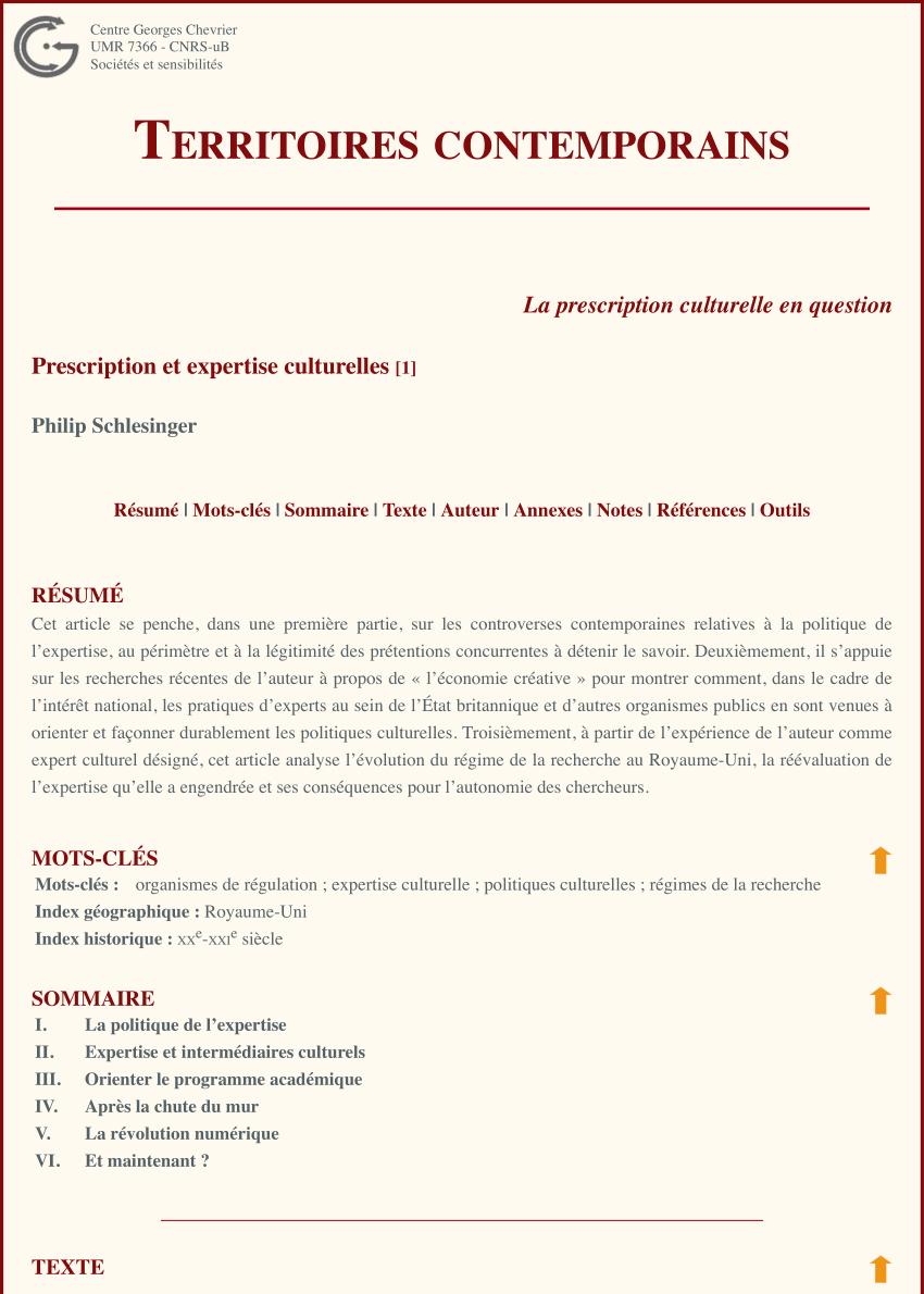 Pdf) Prescription Et Expertise Culturelles encequiconcerne Esquiver Mots Fleches