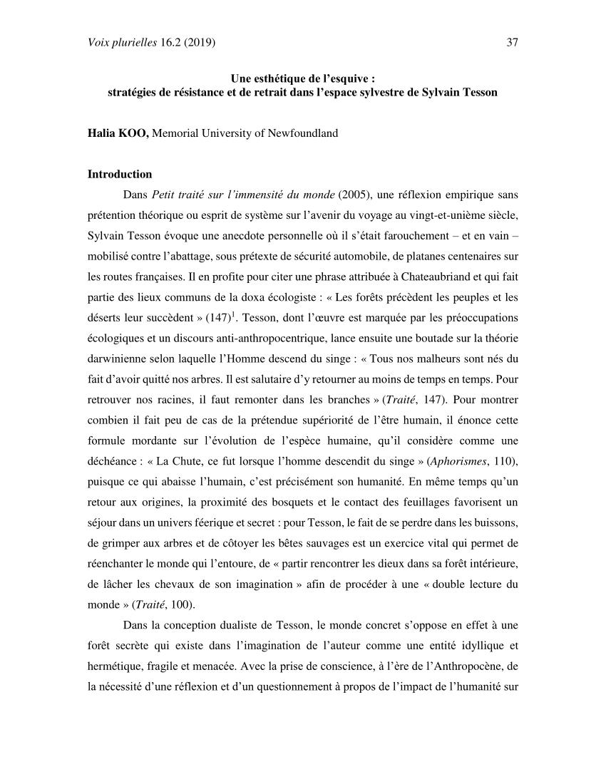 Pdf) Une Esthétique De L'esquive : Stratégies De Résistance dedans Esquiver Mots Fleches