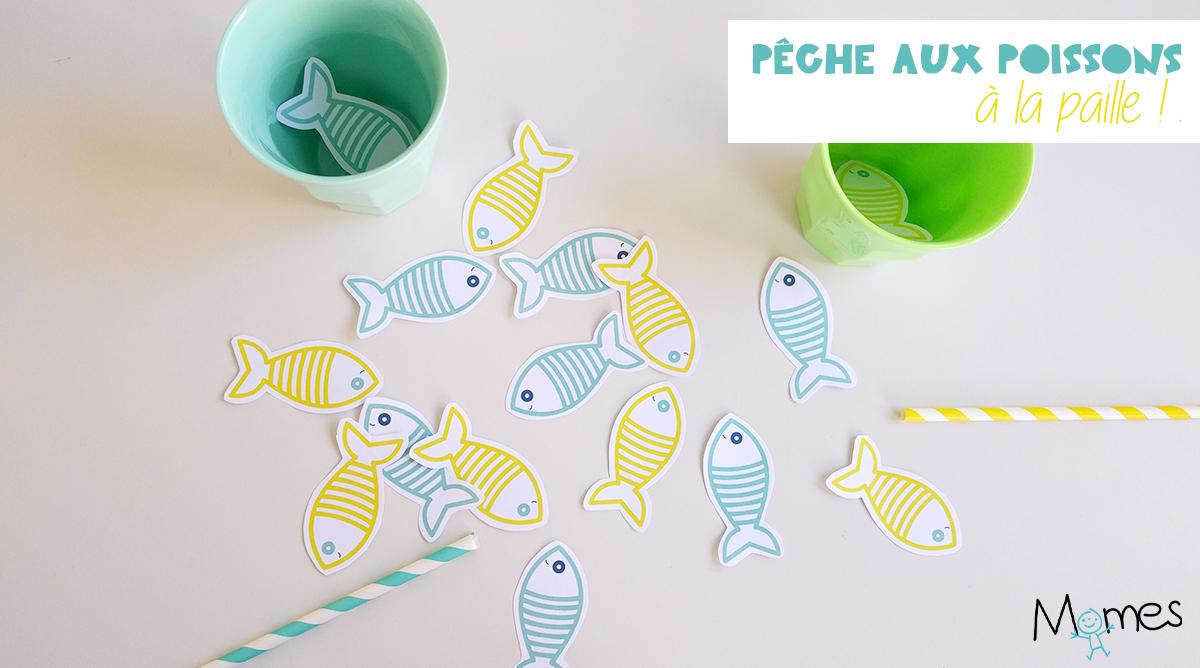 Pêche Aux Poissons À La Paille ! - Momes à Jeux Du Poisson