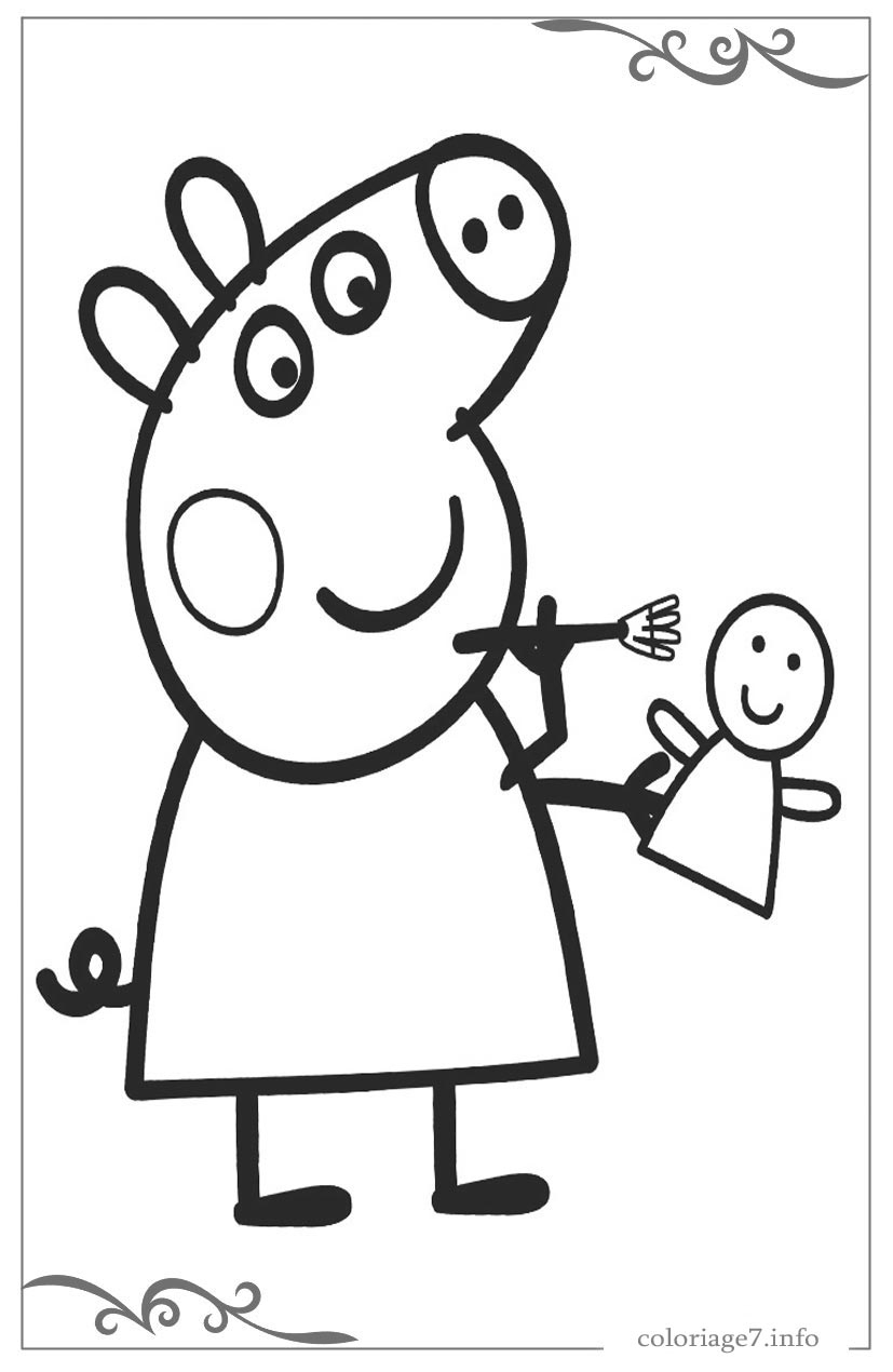 Peppa Pig Télécharger Et Imprimer Des Coloriages De Les Pour destiné Coloriage Gratuit À Imprimer Pour Fille
