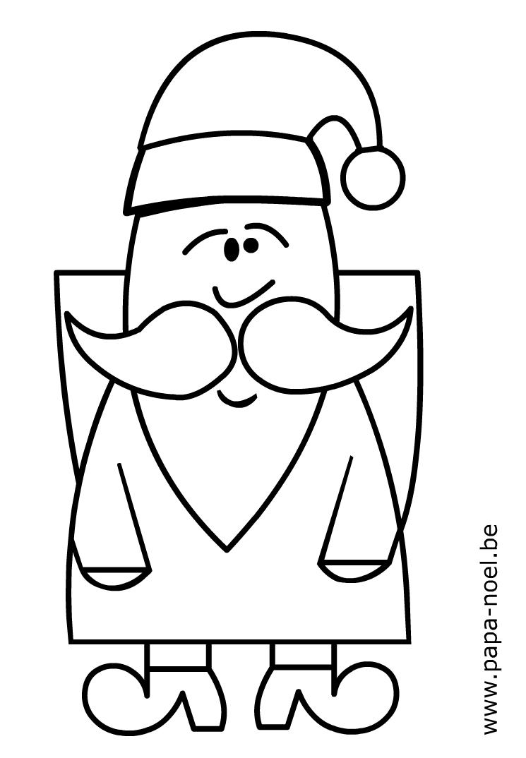 Père Noël #198 (Personnages) – Coloriages À Imprimer pour Pere Noel À Colorier Et Imprimer