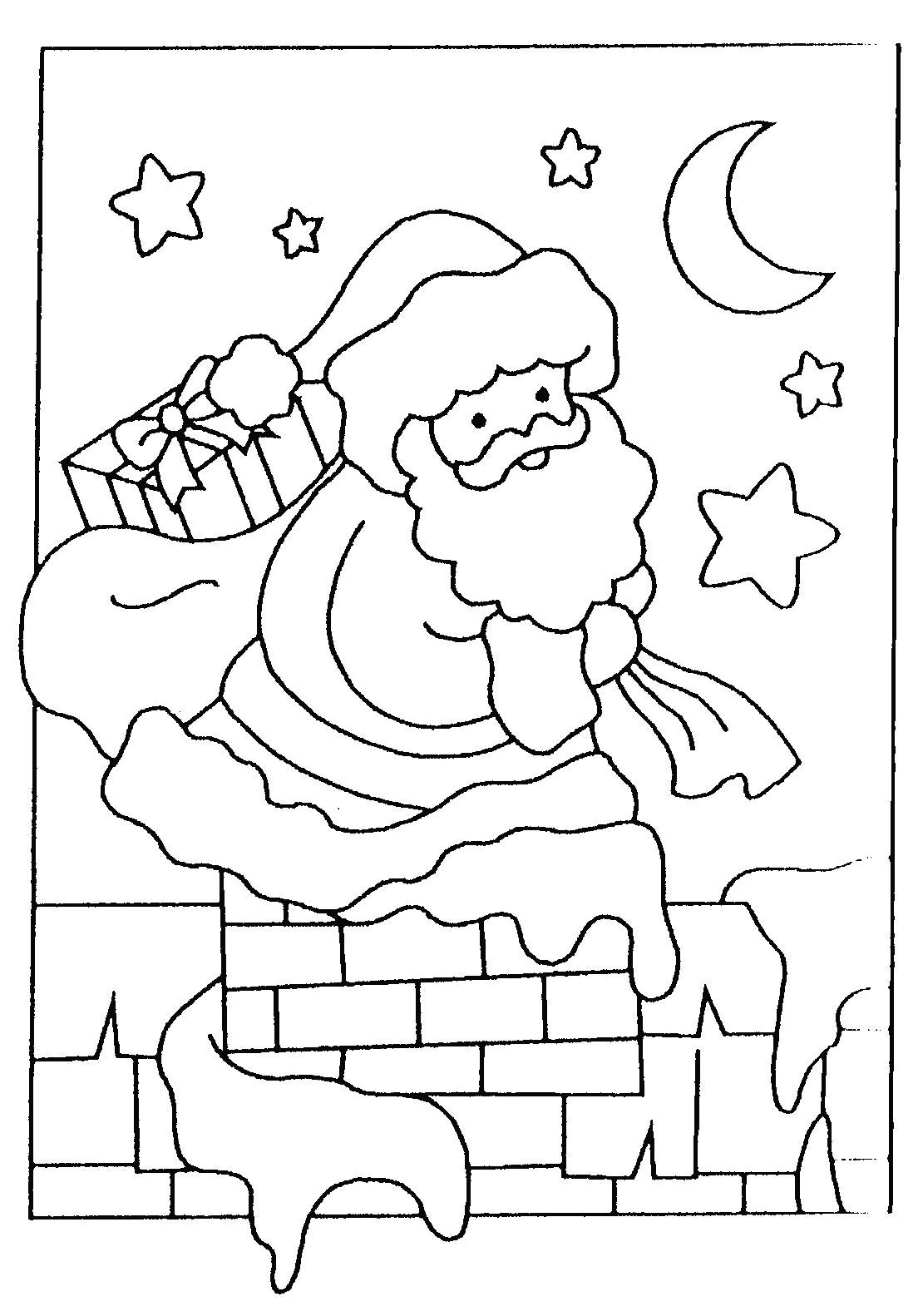 Père Noël #4 (Personnages) – Coloriages À Imprimer intérieur Pere Noel À Colorier Et Imprimer