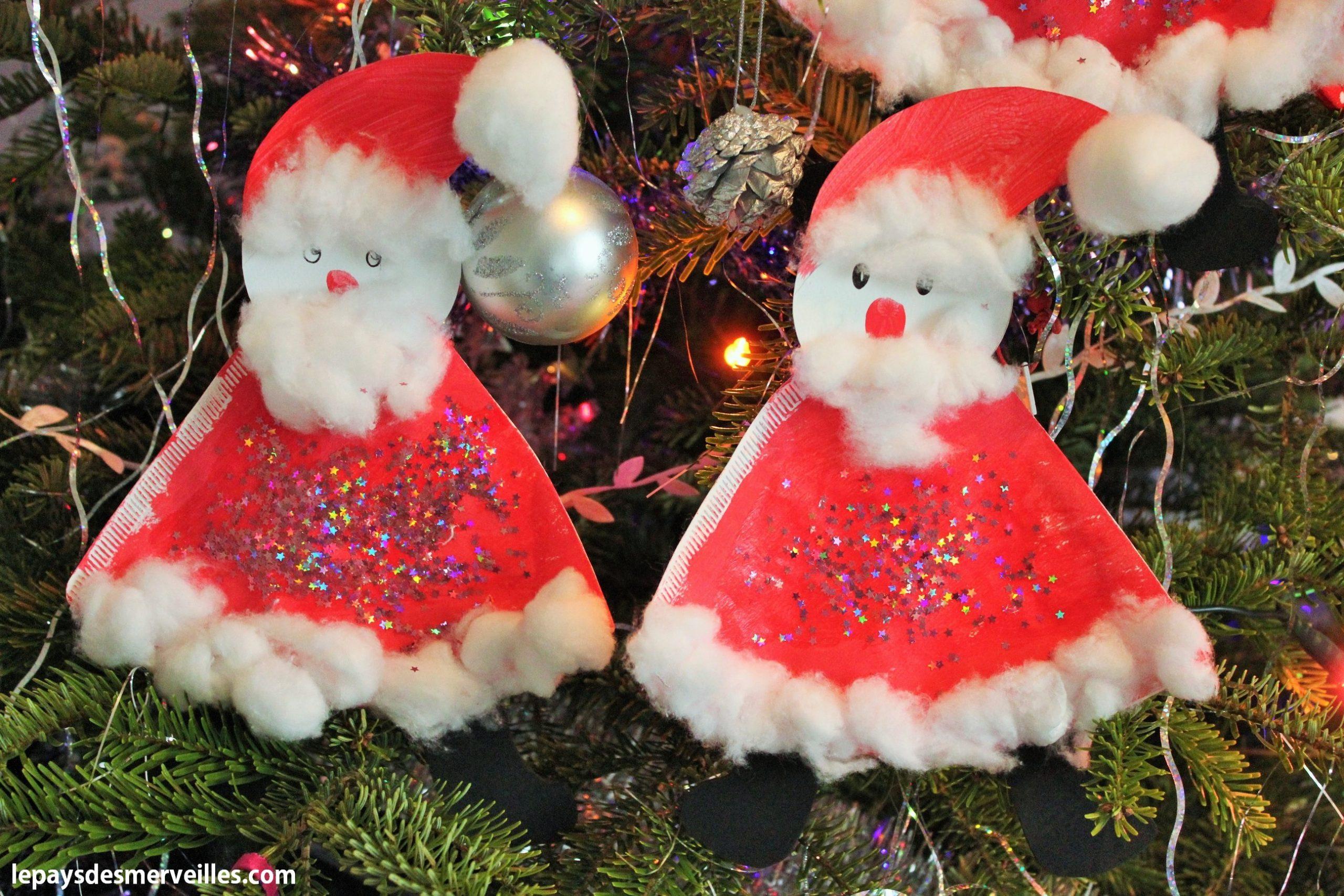 Père-Noël En Filtre À Café - Le Pays Des Merveilles serapportantà Activité Manuelle Noel 3 Ans