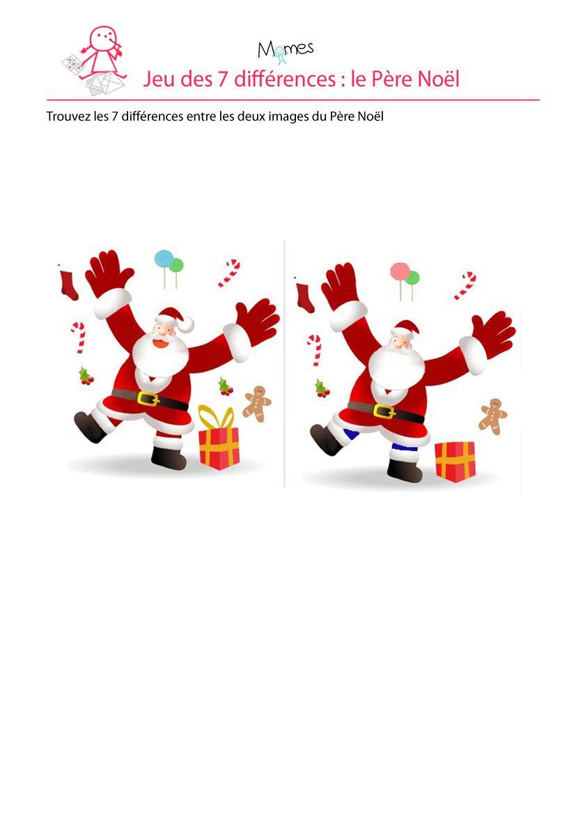 Père Noël : Jeu Des 7 Erreurs | Jeux Des 7 Erreurs, Theme encequiconcerne Jeux Les 7 Erreurs