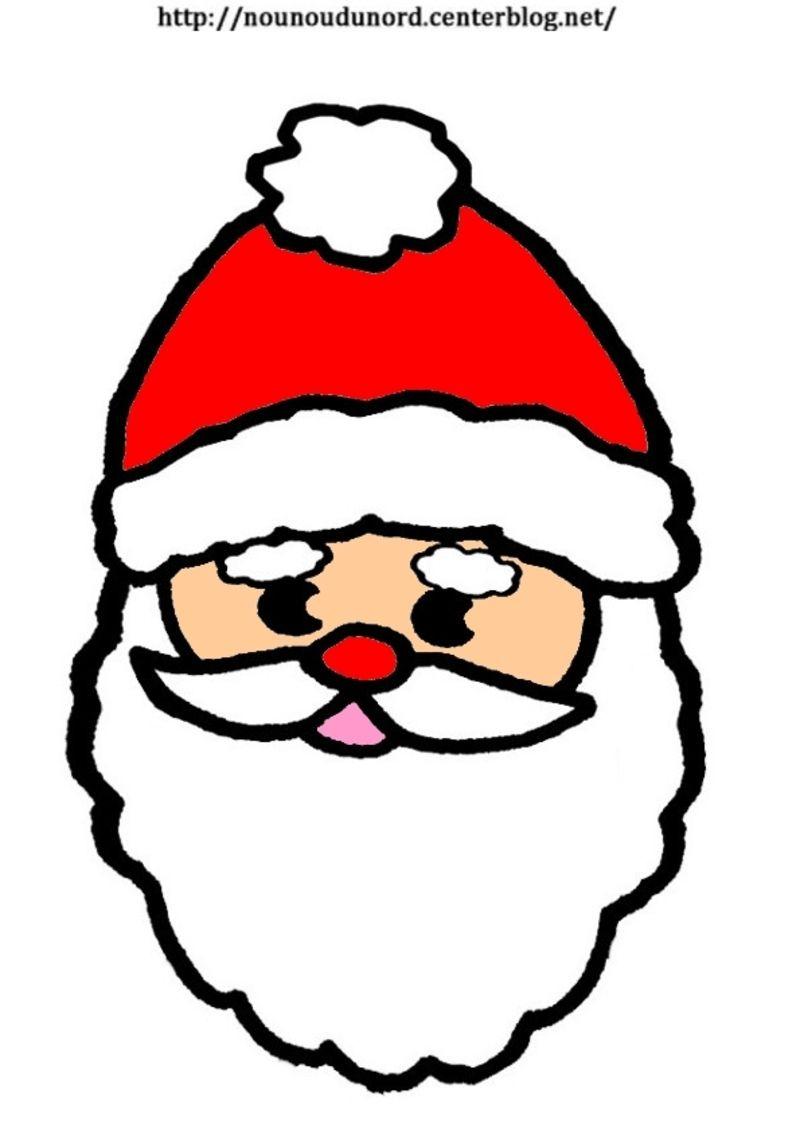 Père Noël Pantin À Colorier Ou En Couleur Grand Modèle pour Dessin De Noel En Couleur A Imprimer