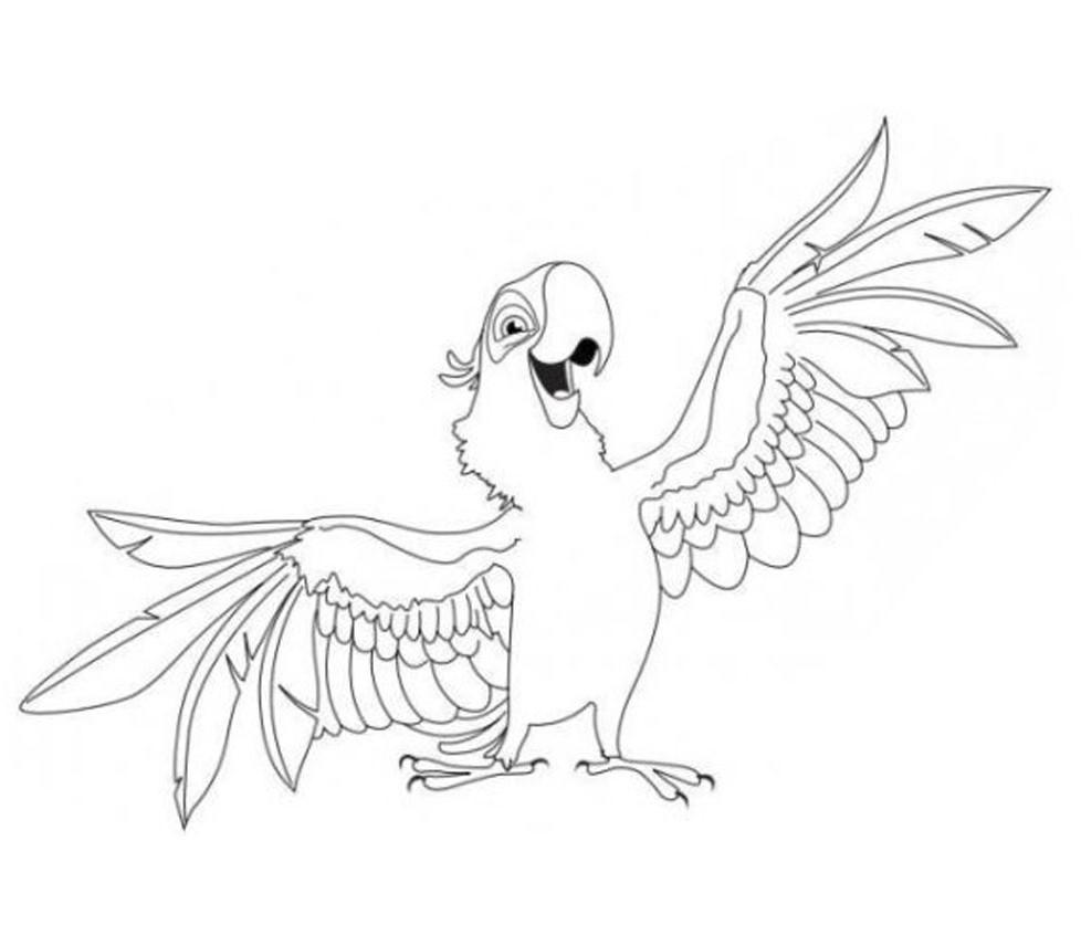 Perroquet #43 (Animaux) – Coloriages À Imprimer à Perroquet Coloriage A Imprimer
