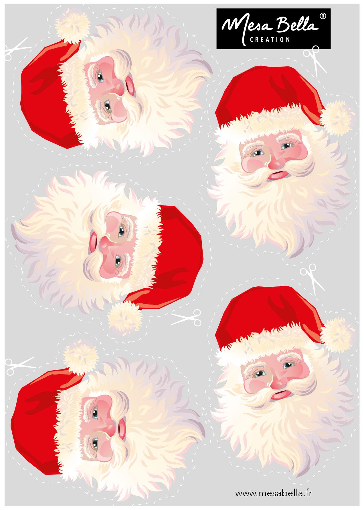 Personnalisez Votre Serviette Père Noël - Mesa Bella Blog serapportantà Pere Noel A Decouper