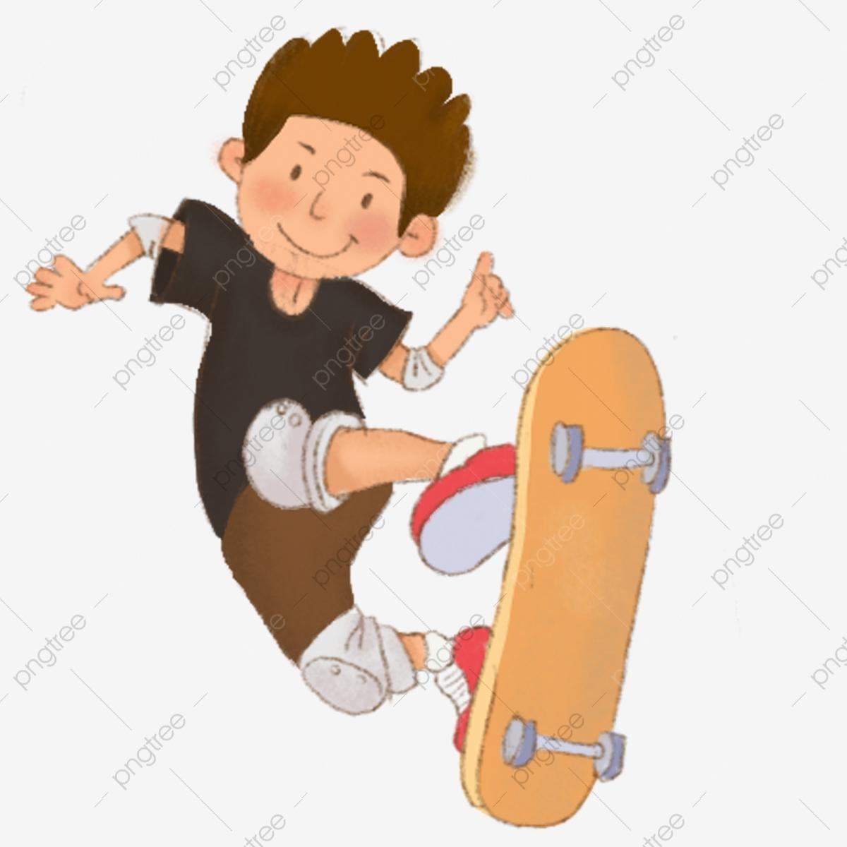 Petit Garçon Skateboard Garçon Mignon Jeu Personnage Dessiné destiné Les Jeux De Petit Garcon