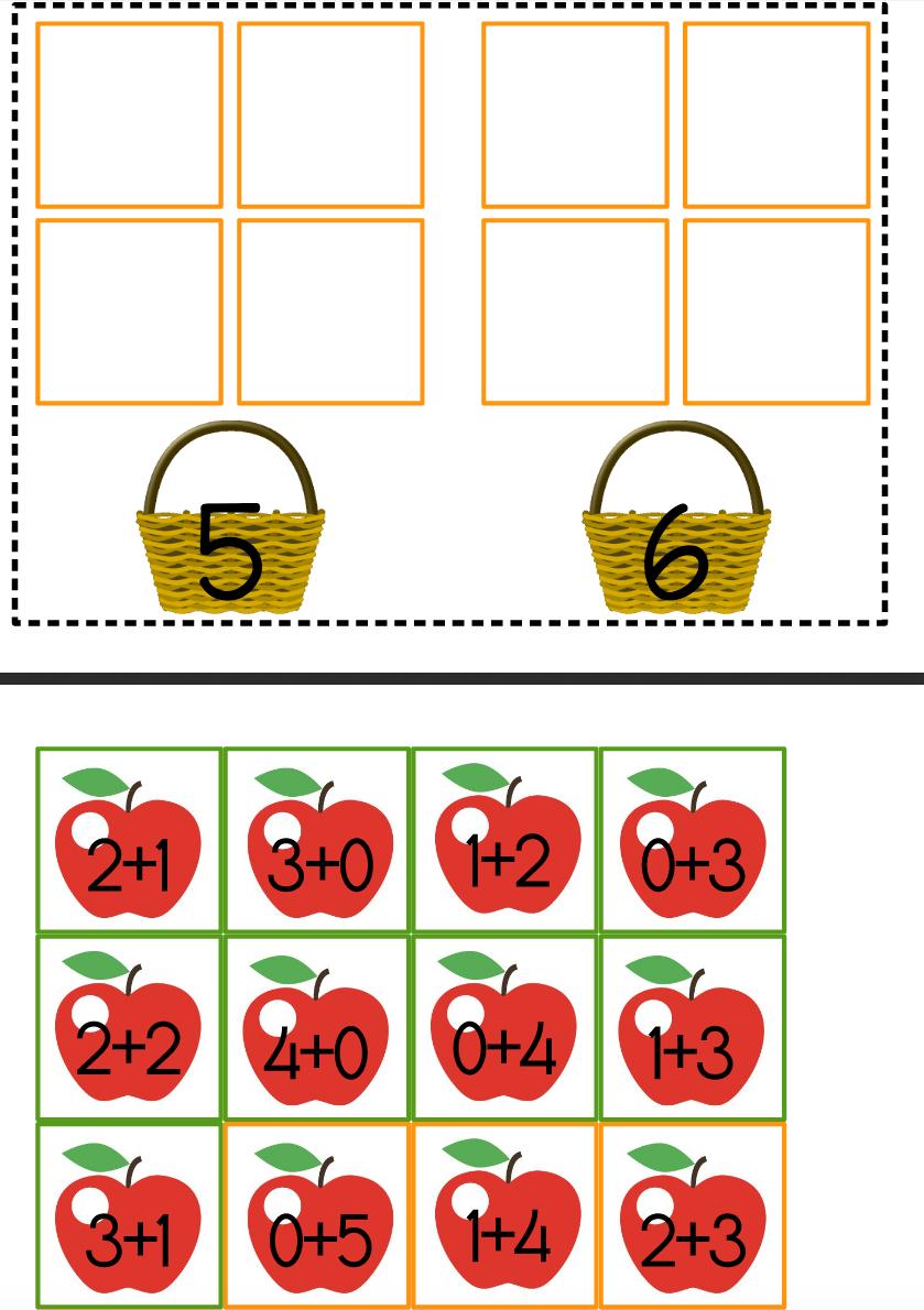 Petit Jeu D'additions Simples Sur Le Thème Des #pommes tout Jeux De Maths Facile