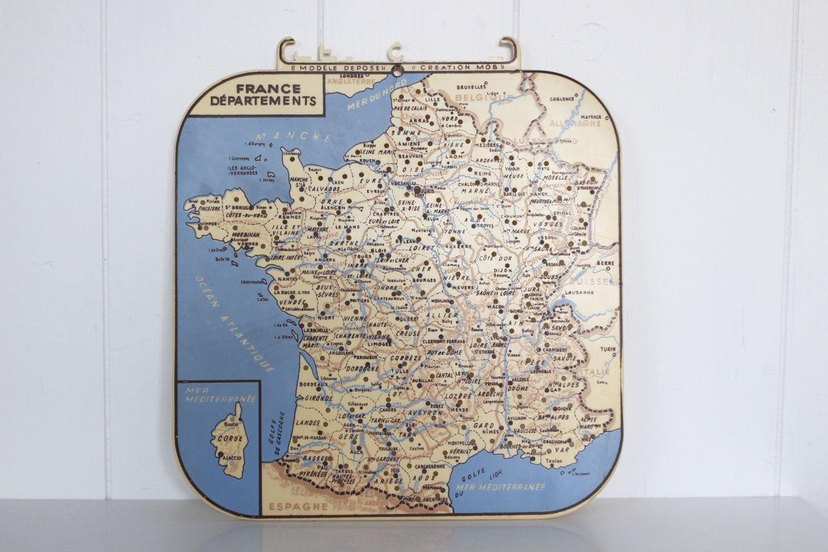 Petite Carte La France Par Département Création Mob Années à Petite Carte De France