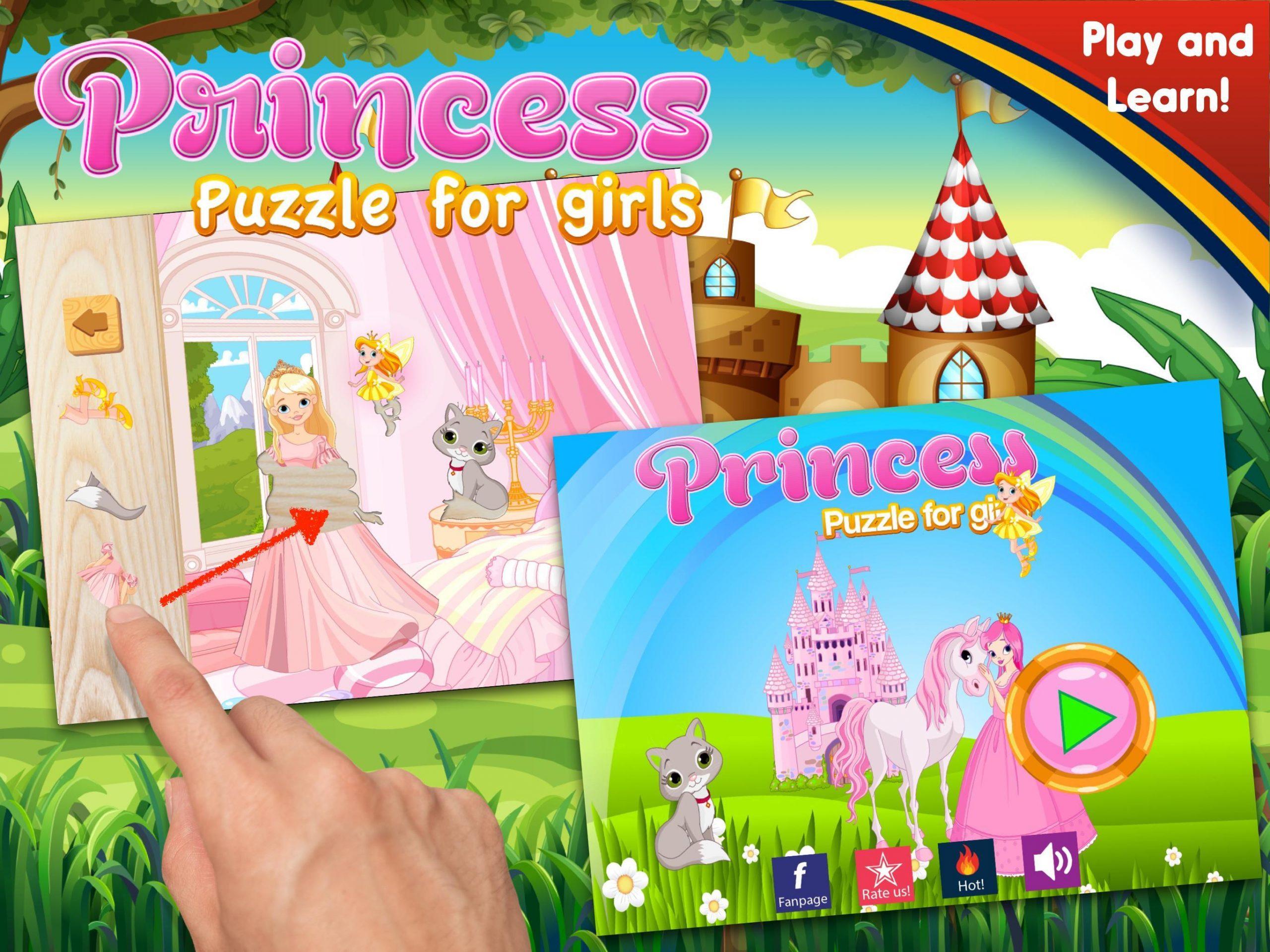 Petite Princesse Puzzle - Jeux De Fille Facile Pour Android à Jeux De Fille Puzzle