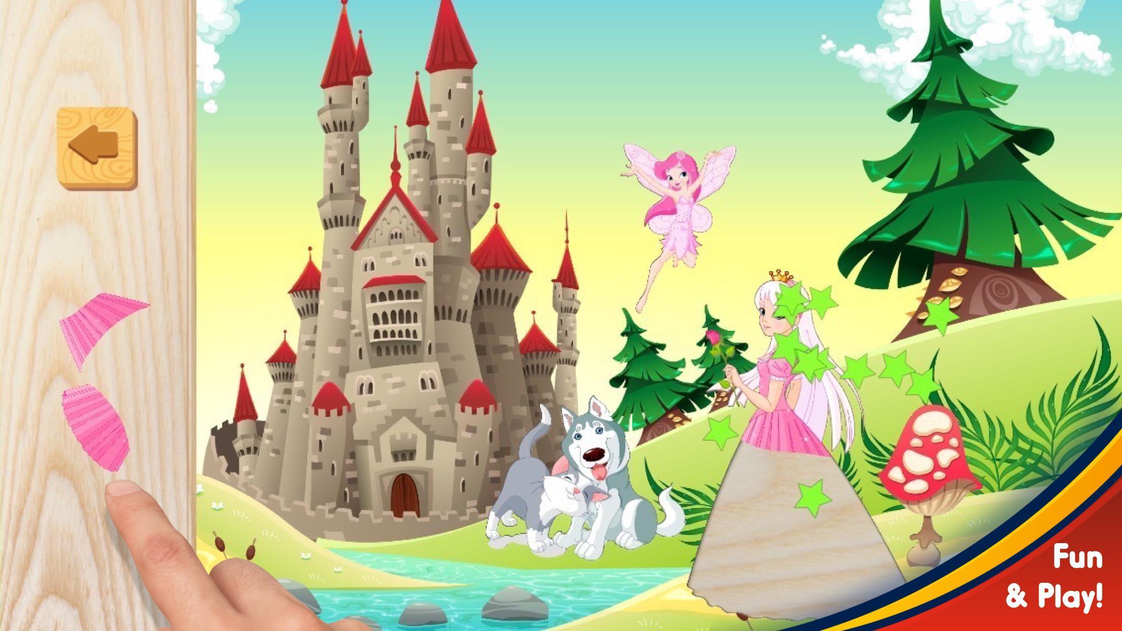 Petite Princesse Puzzle - Jeux De Fille Facile Pour Android tout Jeux De Fille Puzzle