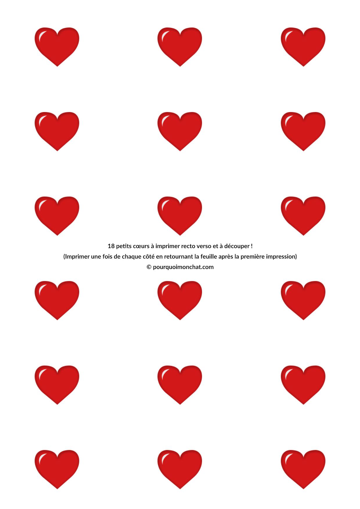 Petits Coeurs À Découper Pour La Saint-Valentin ! - Diy pour Coeur A Imprimer Et Decouper