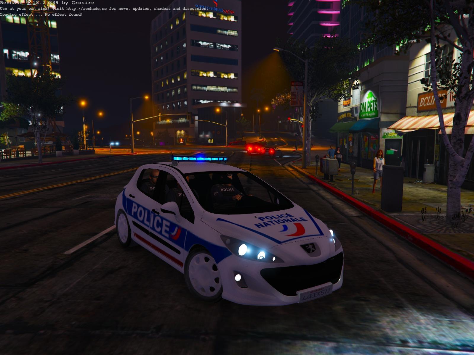 Peugeot 308 Police Nationale - Gta5-Mods dedans Jeux De Voiture Avec La Police