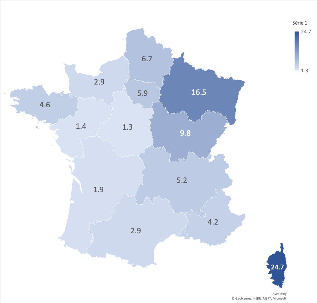 """Pierre Vabres On Twitter: """"epidémie De Covid-19 En France à Les 22 Régions De France Métropolitaine"""