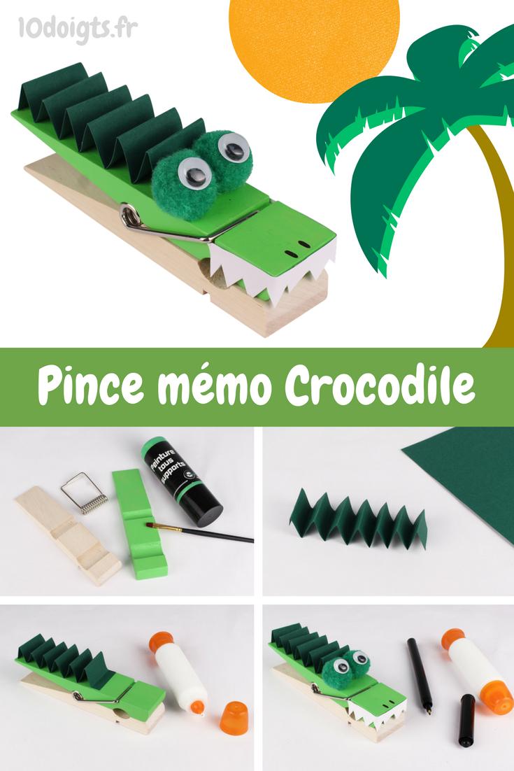 Pince Mémo Crocodile - Activités Enfantines | Activité pour Activité Manuelle Afrique