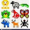 Pixel Art Animals Vector Set Stock Vector Art & Illustration destiné Pixel Art Flamant Rose