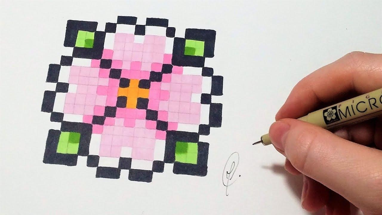 Pixel Art Fleur (Facile) dedans Pixel Art Facile Fille