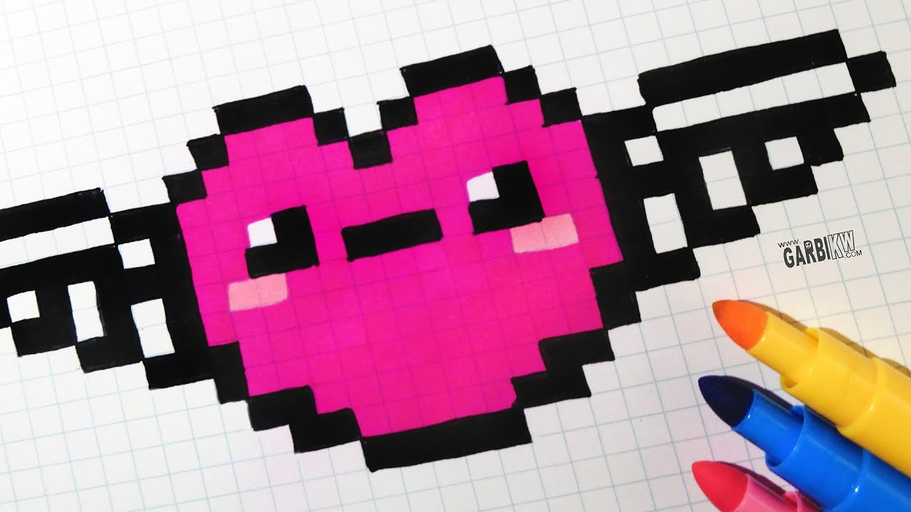 Pixel Art Kawaii destiné Pixel Art Flamant Rose