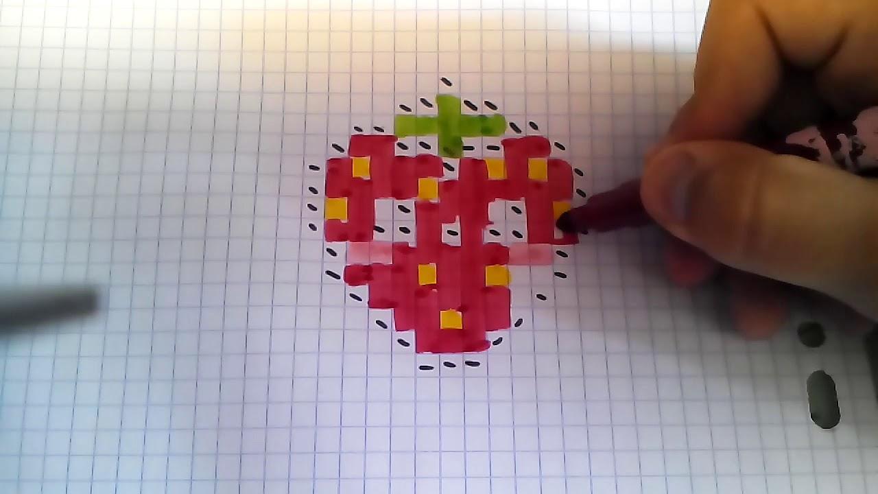 Pixels Art La Fraise - serapportantà Pixel Art Fraise