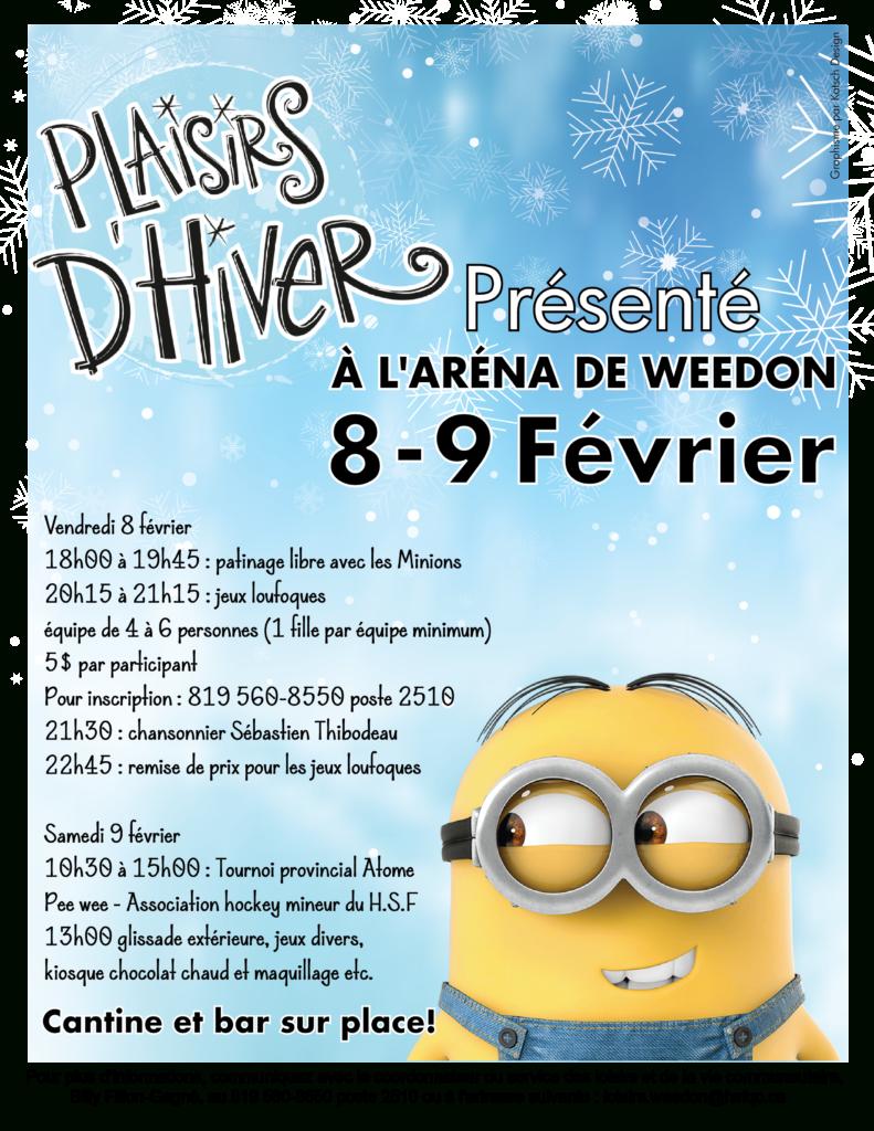 Plaisirs D'hiver De Weedon - 8 & 9 Février 2019 avec Jeux De Fille Pour S Inscrire