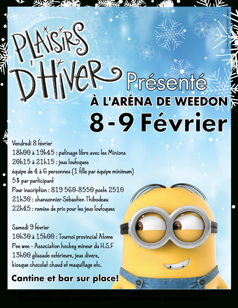 Plaisirs D'hiver De Weedon - 8 & 9 Février 2019 intérieur Inscription Jeux De Fille
