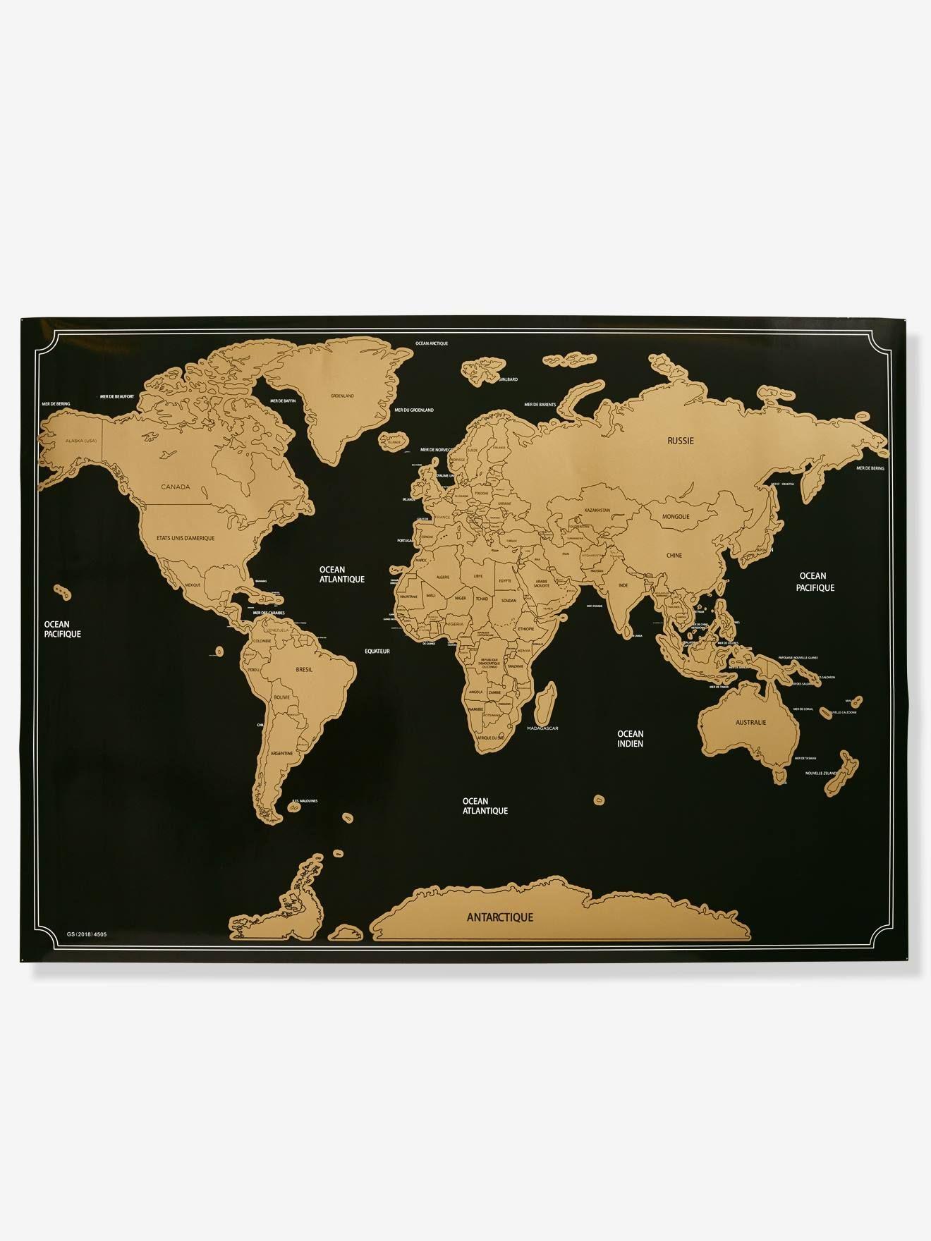 Planisphère À Gratter Marron - Voici Un Chouette Planisphère serapportantà Planisphère Enfant