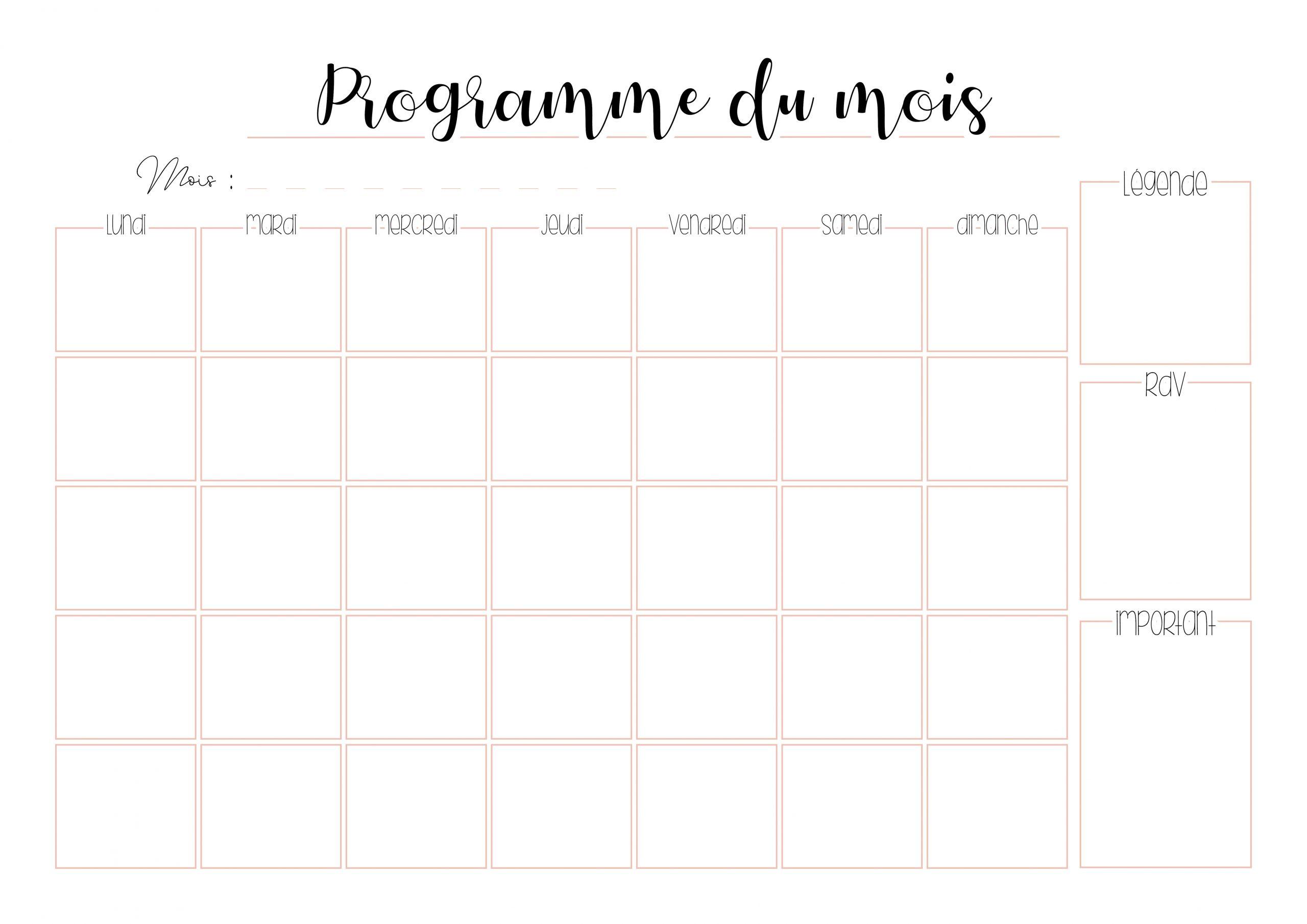 Planners À Imprimer Pour S'organiser Au Quotidien - Gratuit serapportantà Agenda 2018 À Imprimer Gratuit