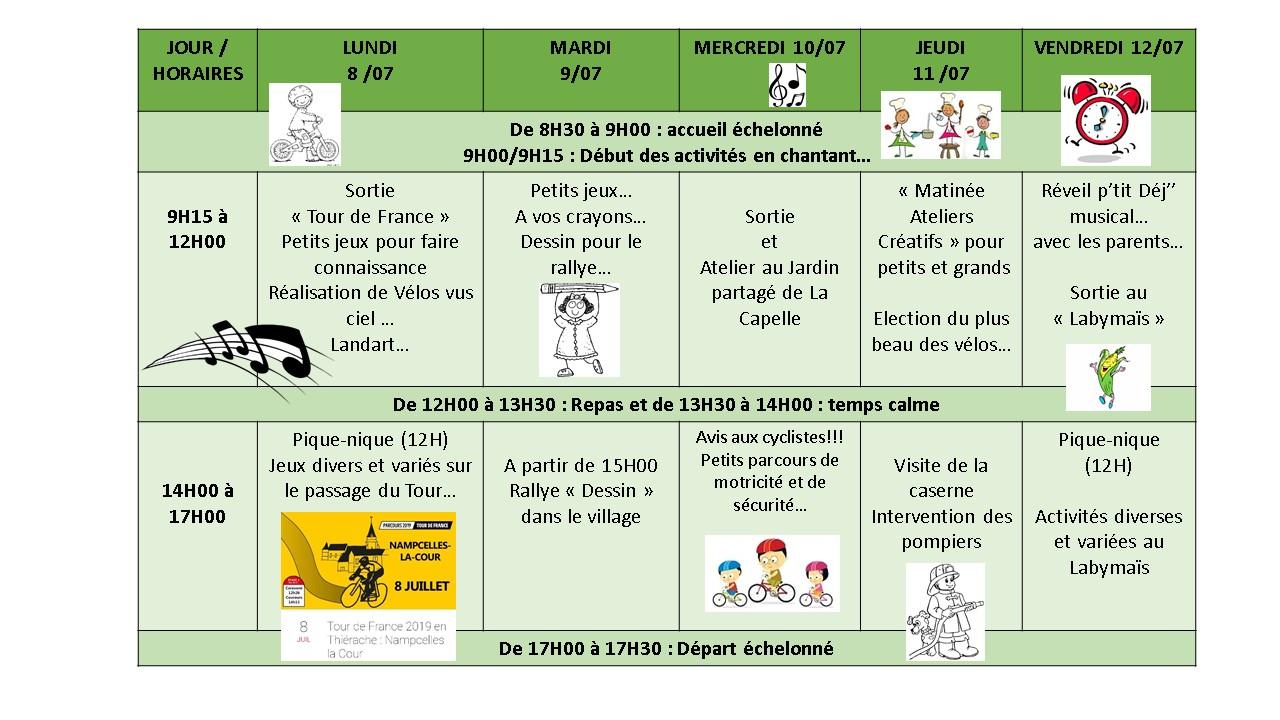 Planning Alsh Sains-Richaumont 3-5 Ans – Tac Tic Animation intérieur Petit Jeux 3 5 Ans