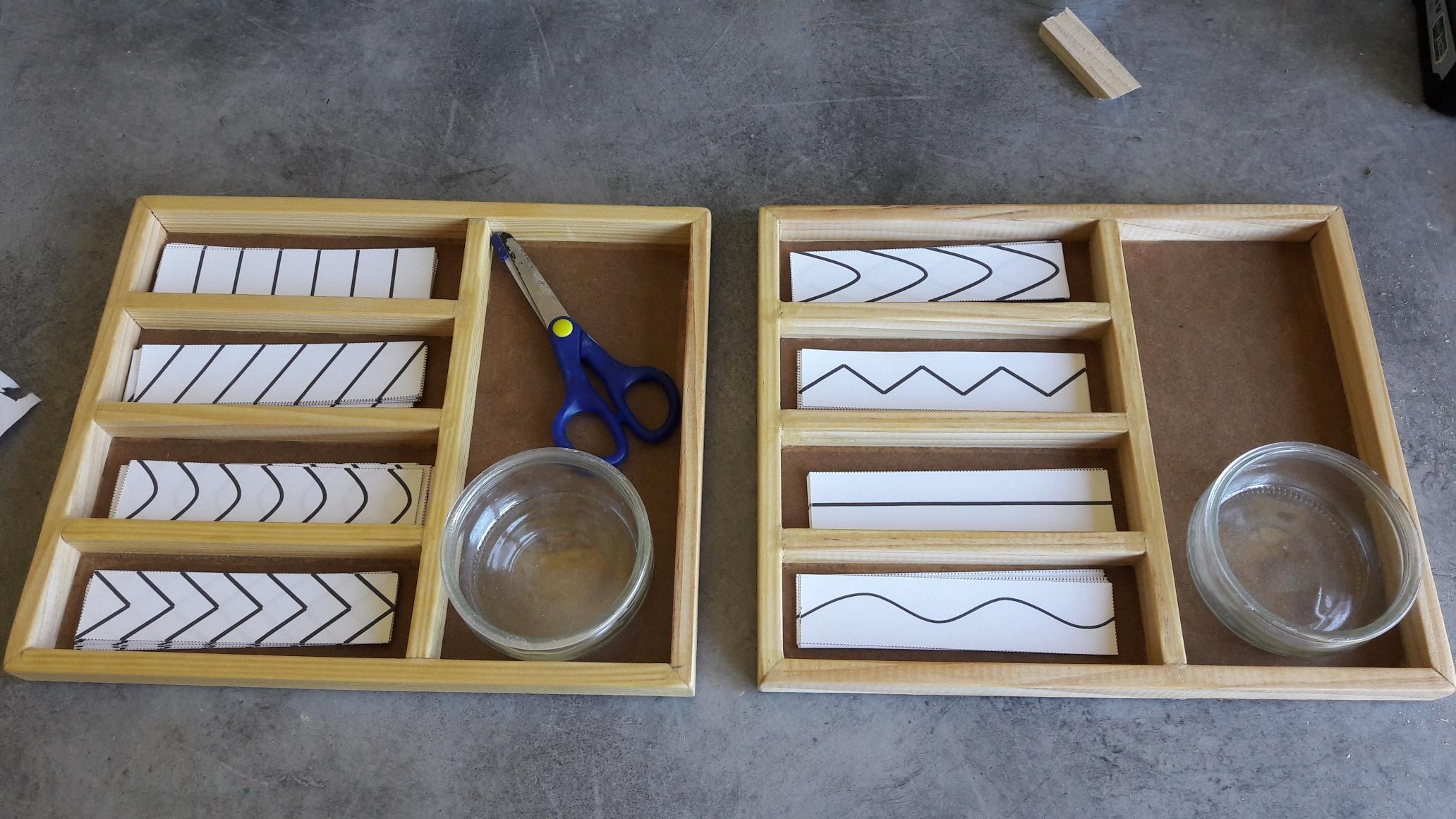 Plateau Autonome : Découper pour Atelier Découpage Maternelle