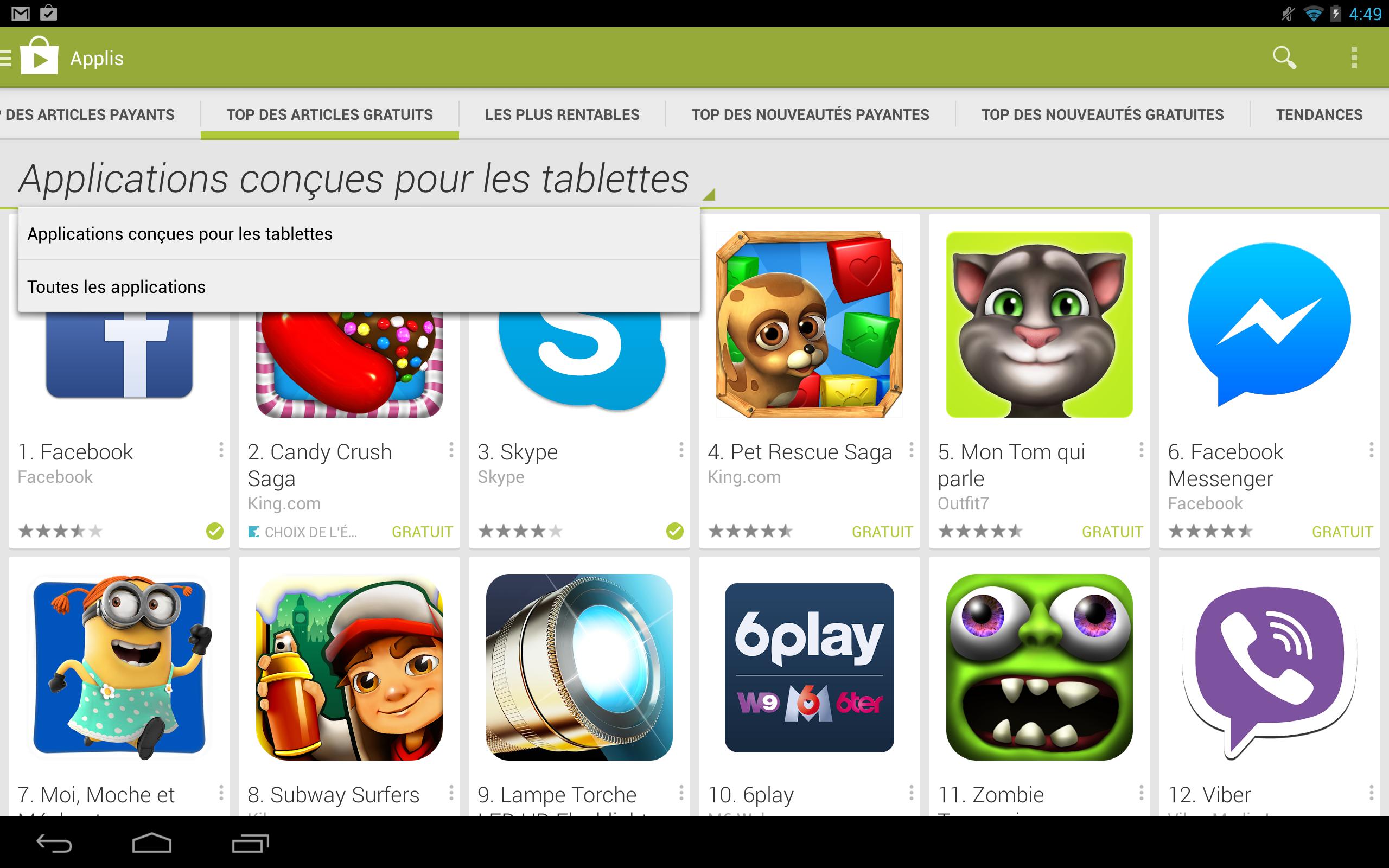 Play Store : Une Nouvelle Version Adaptée Au Format Tablette pour Jeux De Tablette Gratuit