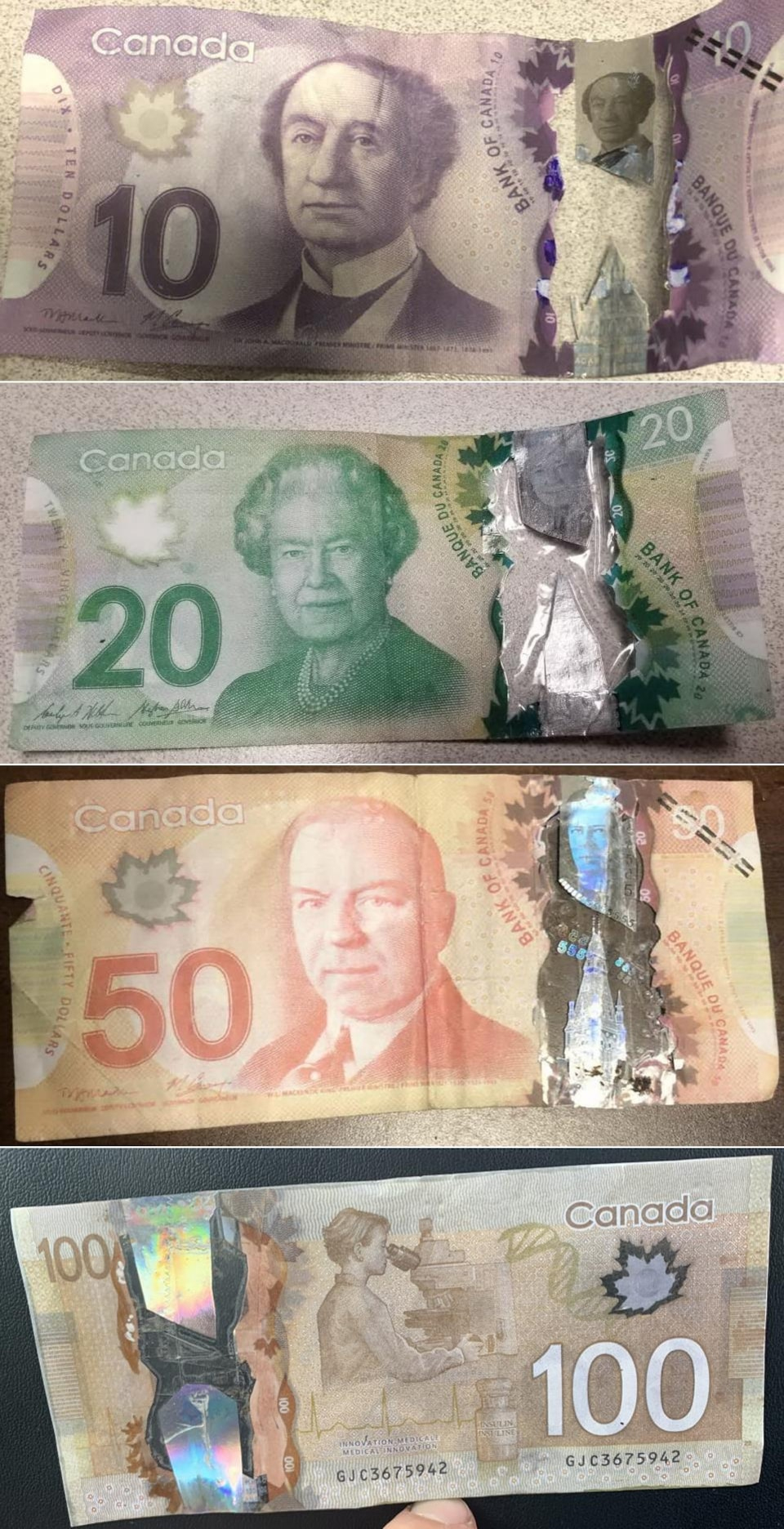 Plusieurs Faux Billets De Banque Circulent À Moncton | Radio intérieur Imprimer Faux Billet