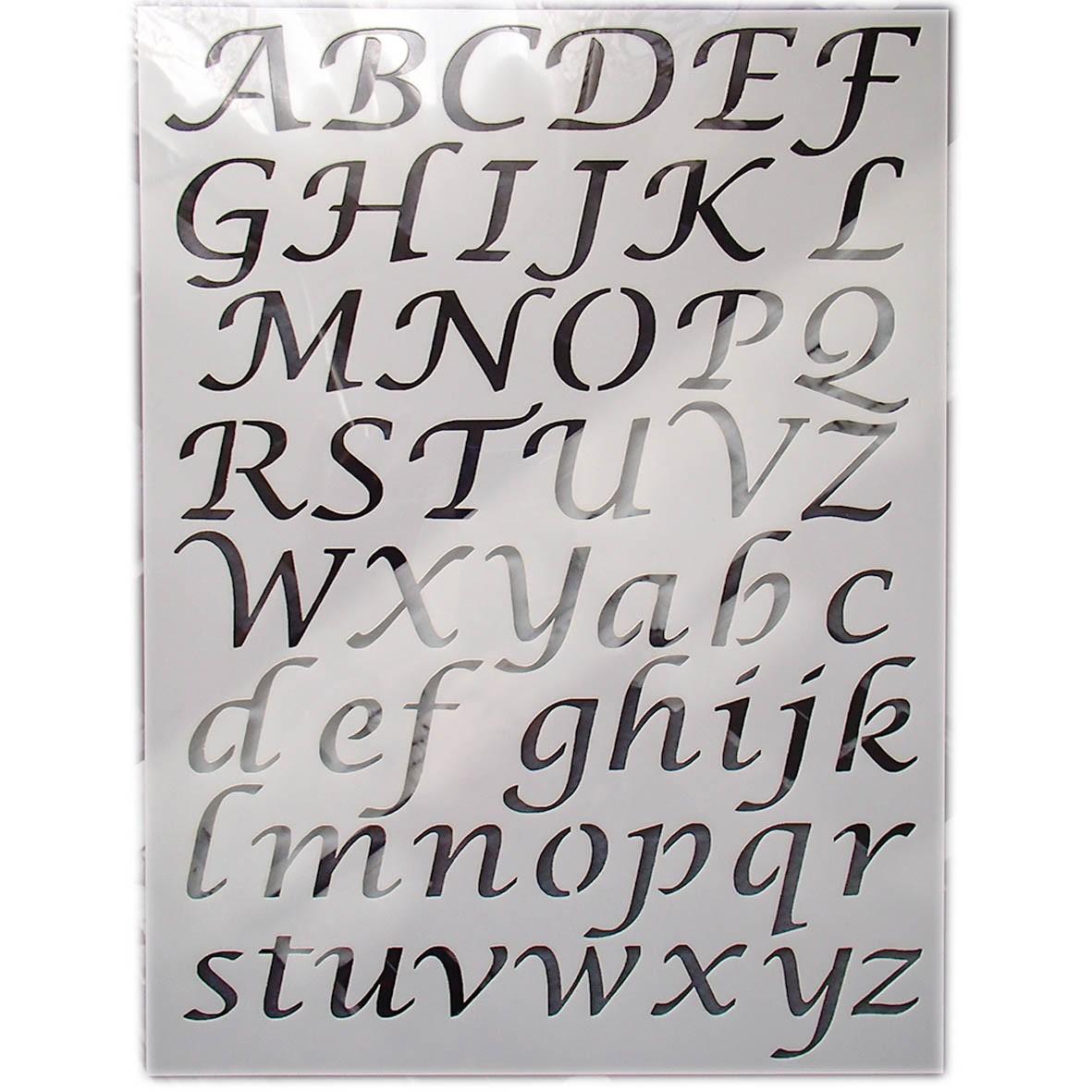 Pochoir Alphabet 4 - Diy Savoir Faire Soi-Même à Lettre A Imprimer Gratuit