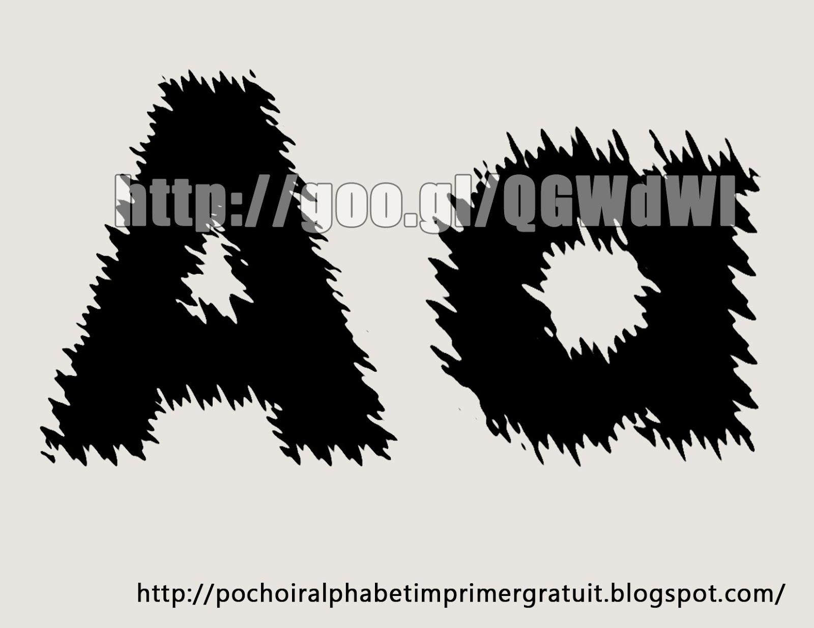 Pochoir Alphabet A Imprimer Gratuit: Lettre Alphabet Pochoir avec Lettre A Imprimer Gratuit